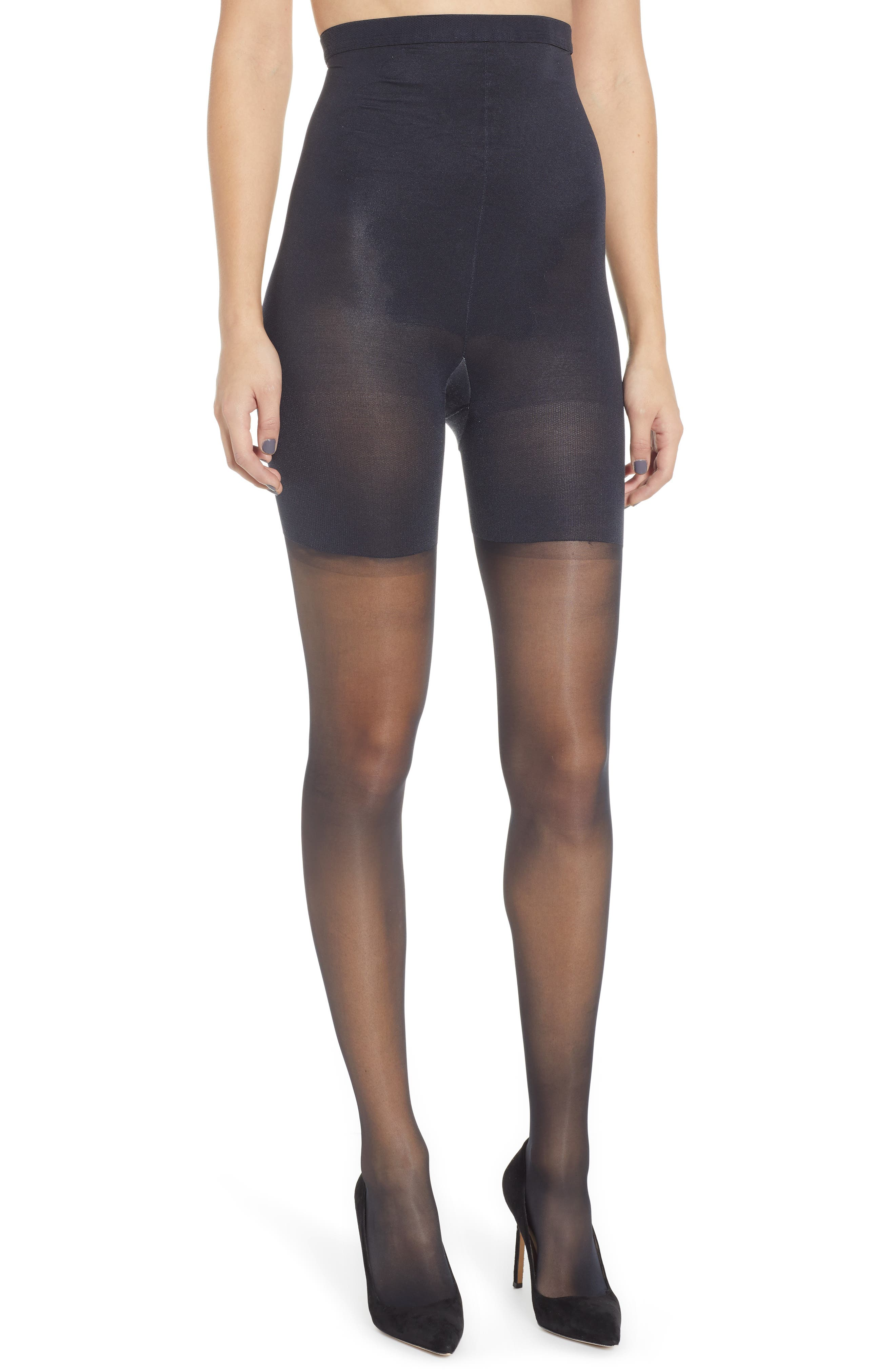 SPANX<SUP>®</SUP> Firm Believer High-Waisted Sheers, Main, color, BLACK