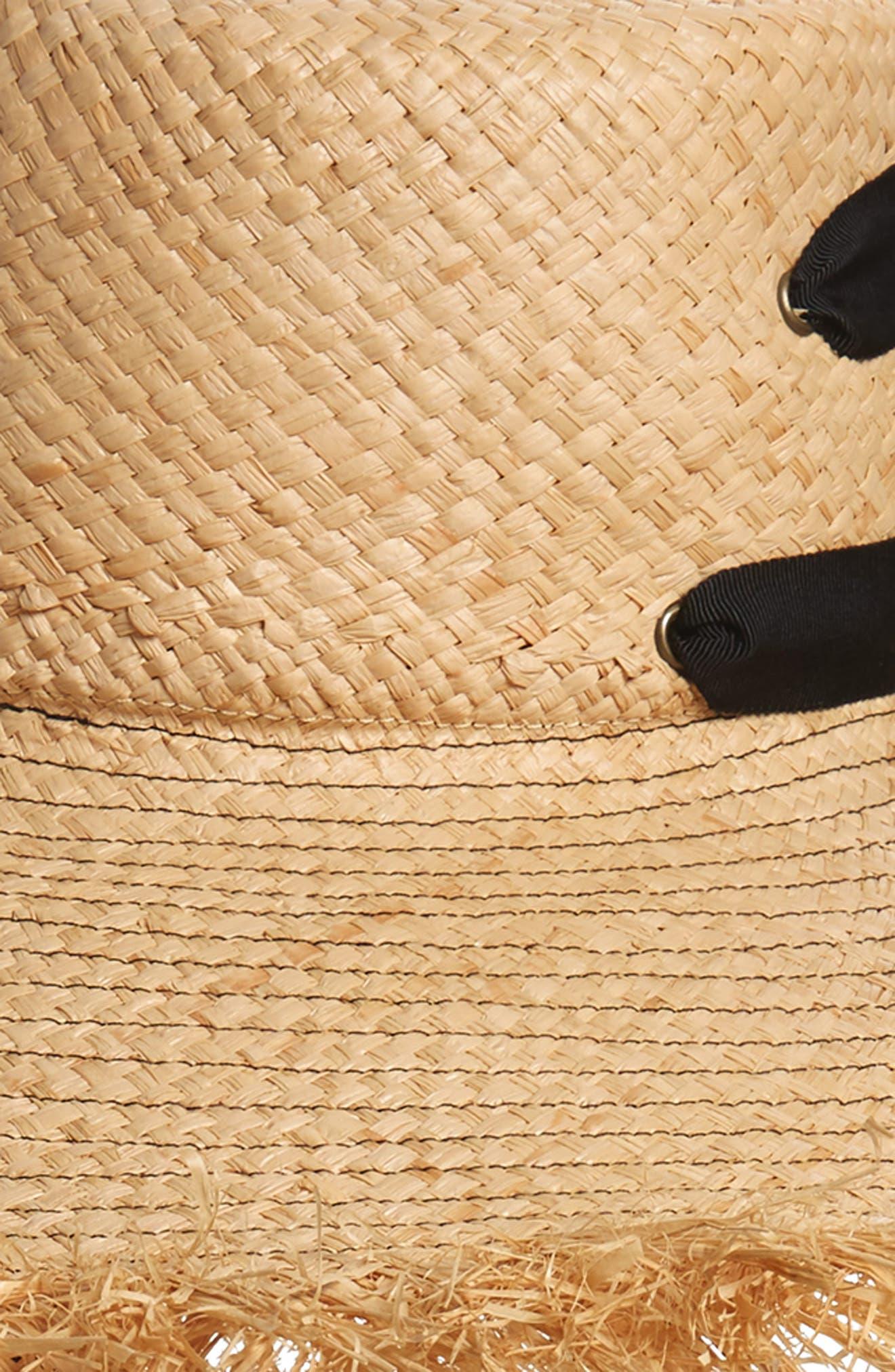 LOLA HATS, Alpargatas Straw Hat, Alternate thumbnail 5, color, NAT/ BLACK