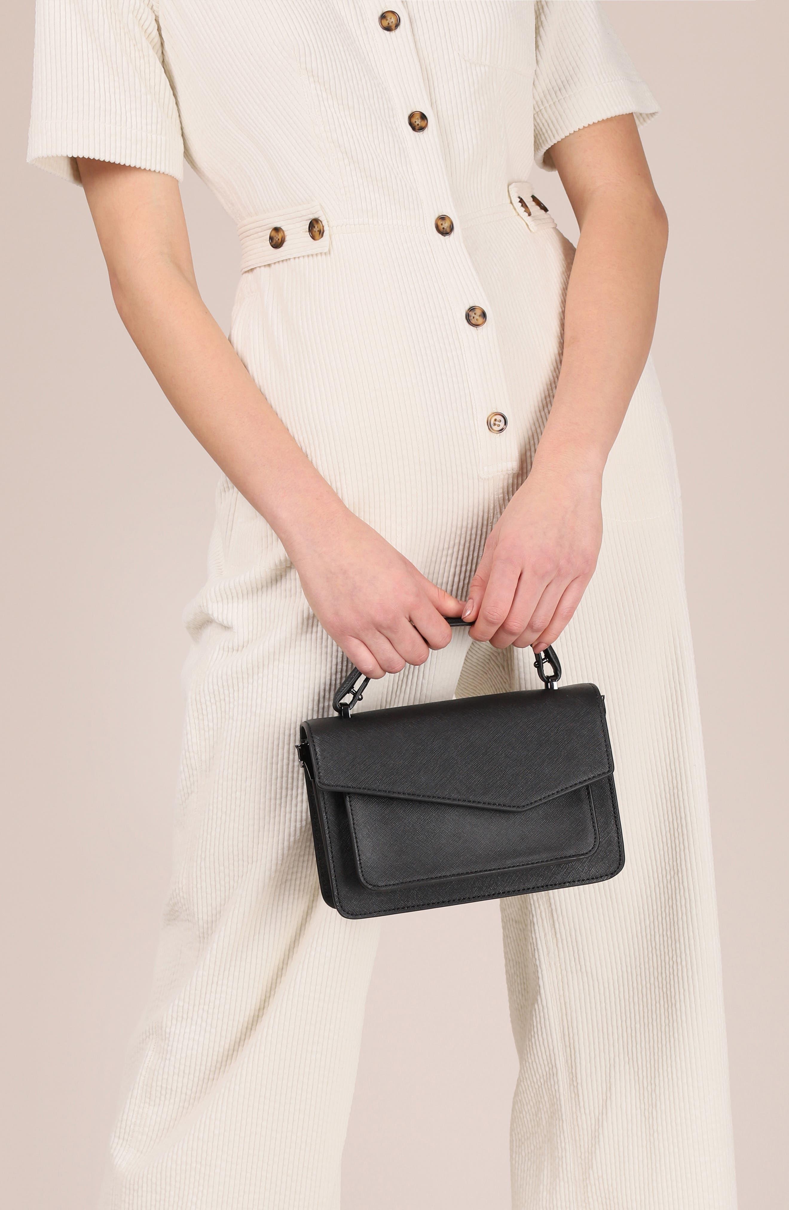 BOTKIER, Cobble Hill Leather Crossbody Bag, Alternate thumbnail 4, color, BLACK