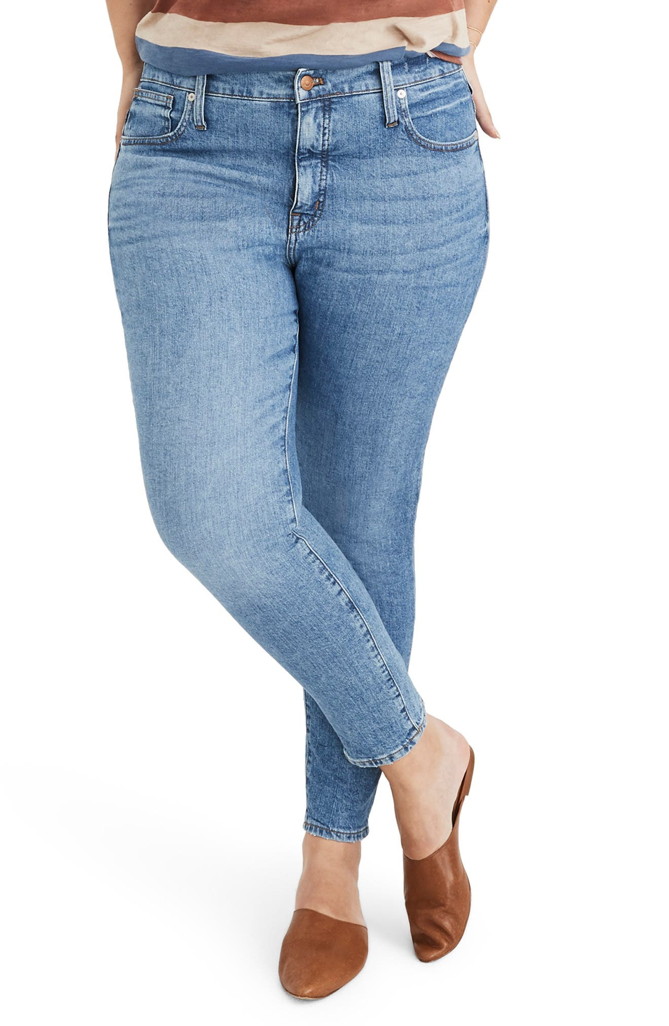 MADEWELL, 9-Inch High Waist Stretch Skinny Jeans, Alternate thumbnail 2, color, REGINA