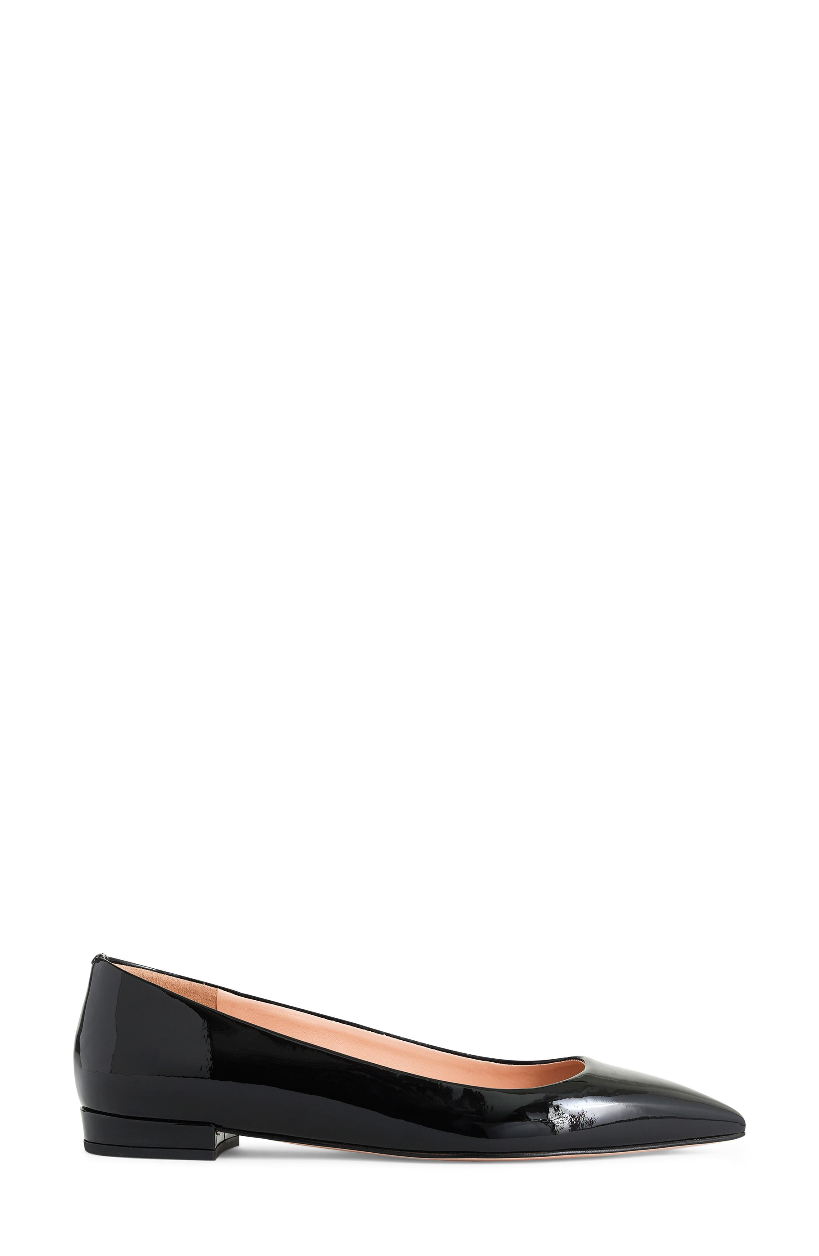 J.CREW, Pointed Toe Flat, Alternate thumbnail 2, color, BLACK PATENT LEATHER