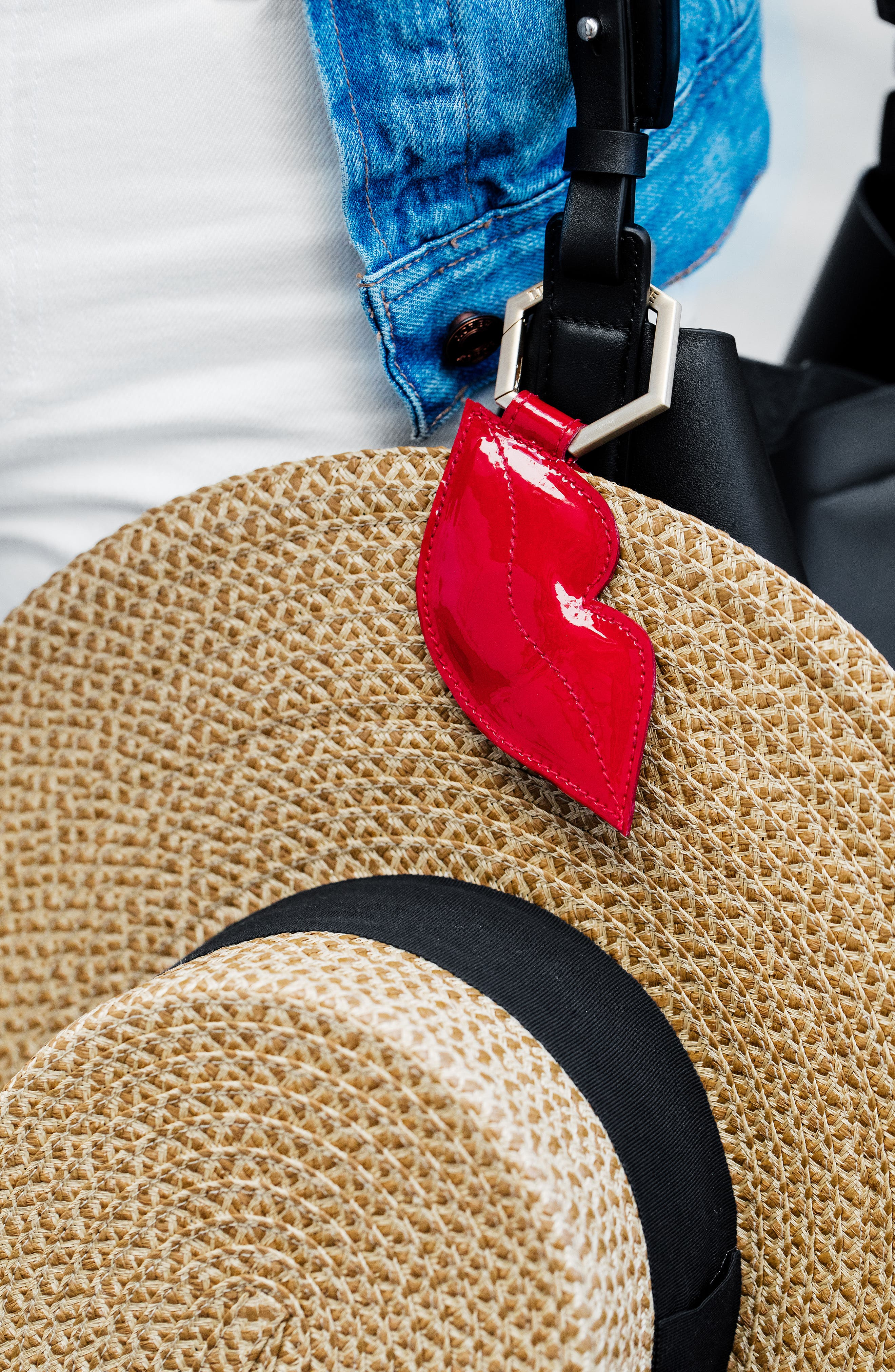TOPTOTE The Pout Leather Hat Clip, Main, color, 600