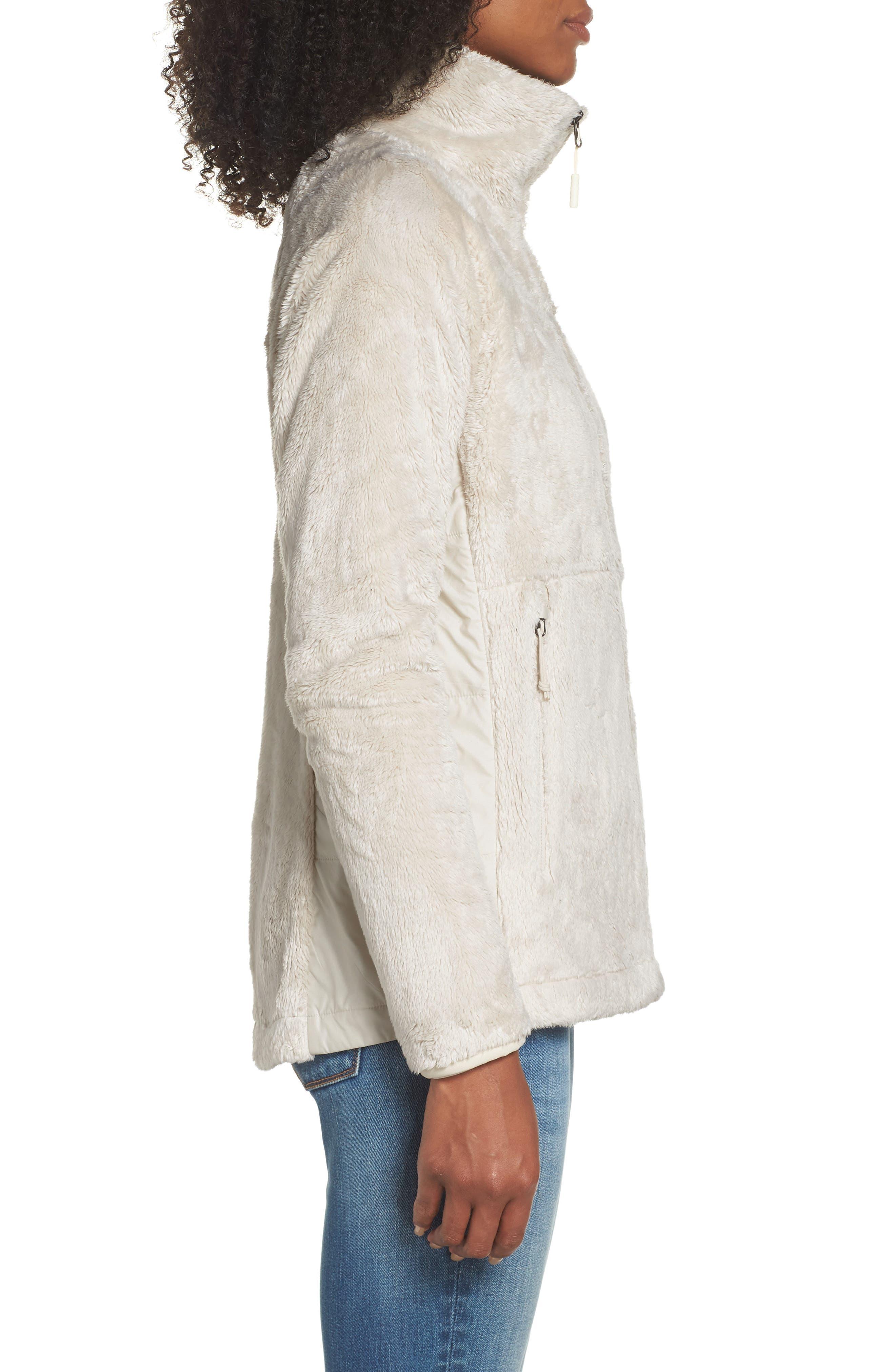 THE NORTH FACE, Osito Sport Hybrid Jacket, Alternate thumbnail 4, color, VINTAGE WHITE