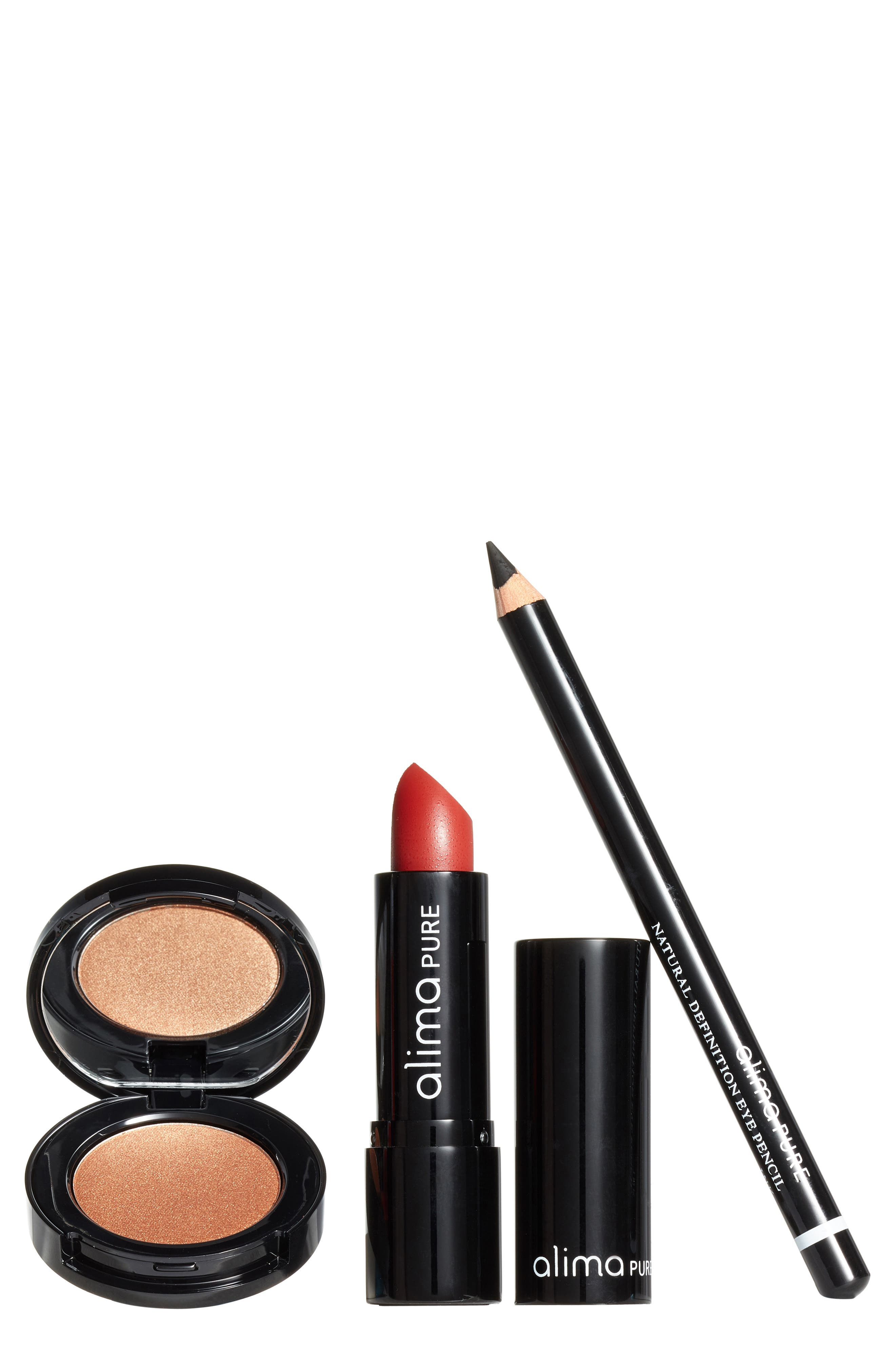 ALIMA PURE, Evening Bag 3-Piece Cosmetics Set, Main thumbnail 1, color, 100
