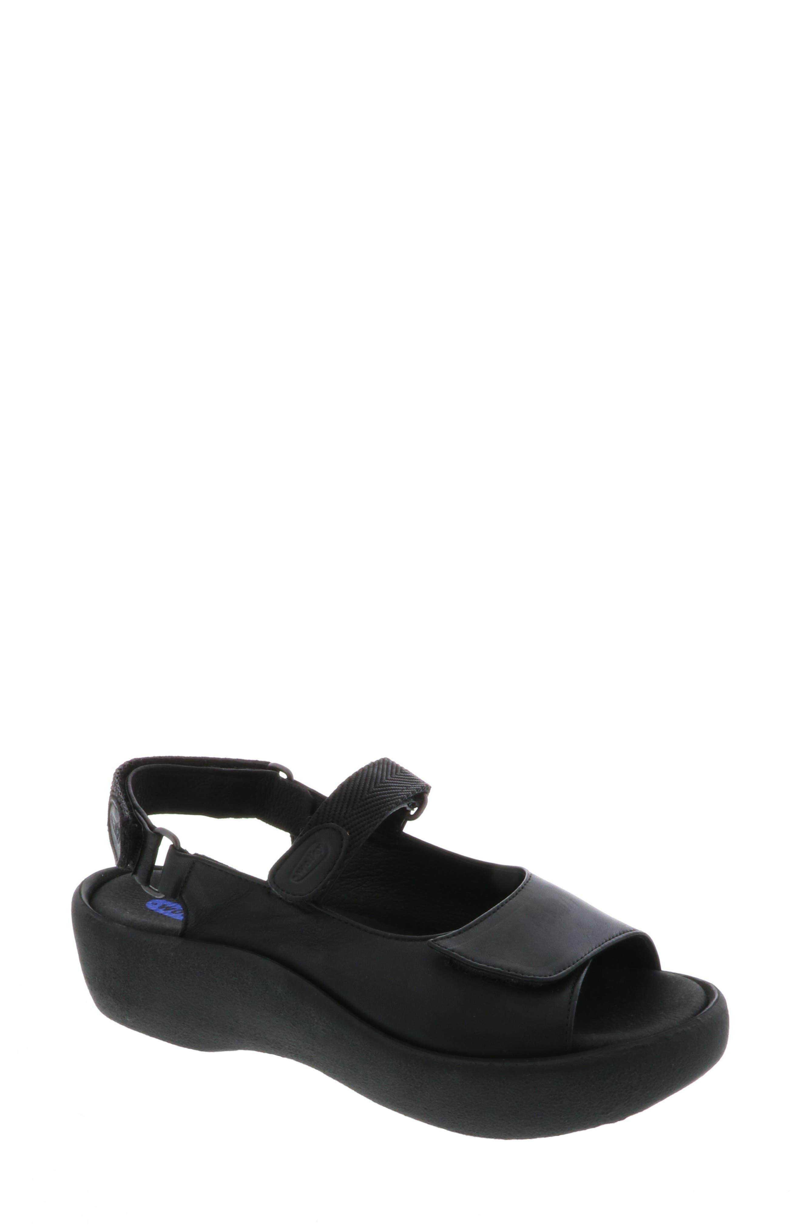 WOLKY, Jewel Sport Sandal, Main thumbnail 1, color, BLACK/ BLACK