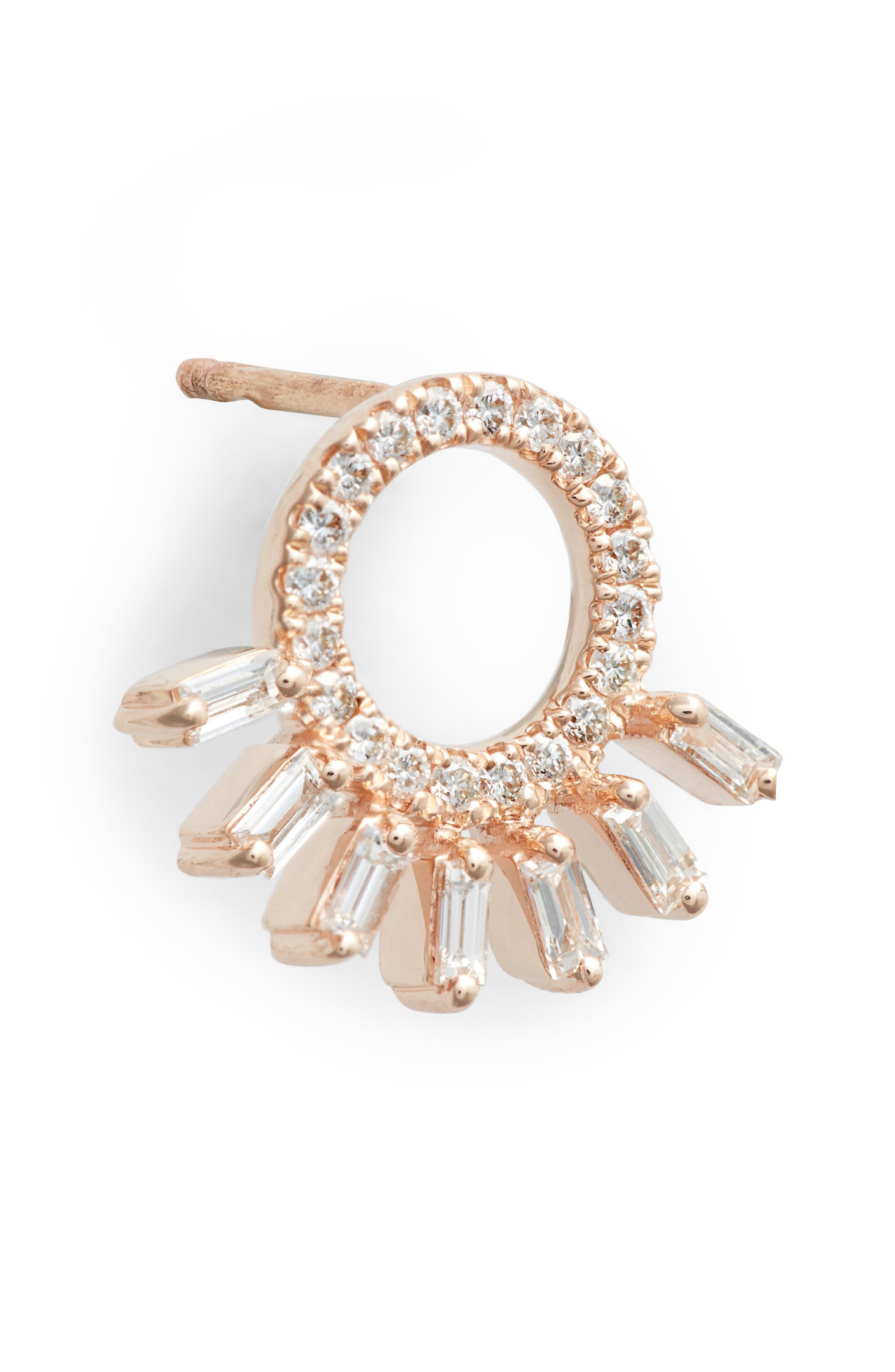 DANA REBECCA DESIGNS, Dana Rebecca Sadie Starburst Stud Earrings, Alternate thumbnail 5, color, ROSE GOLD