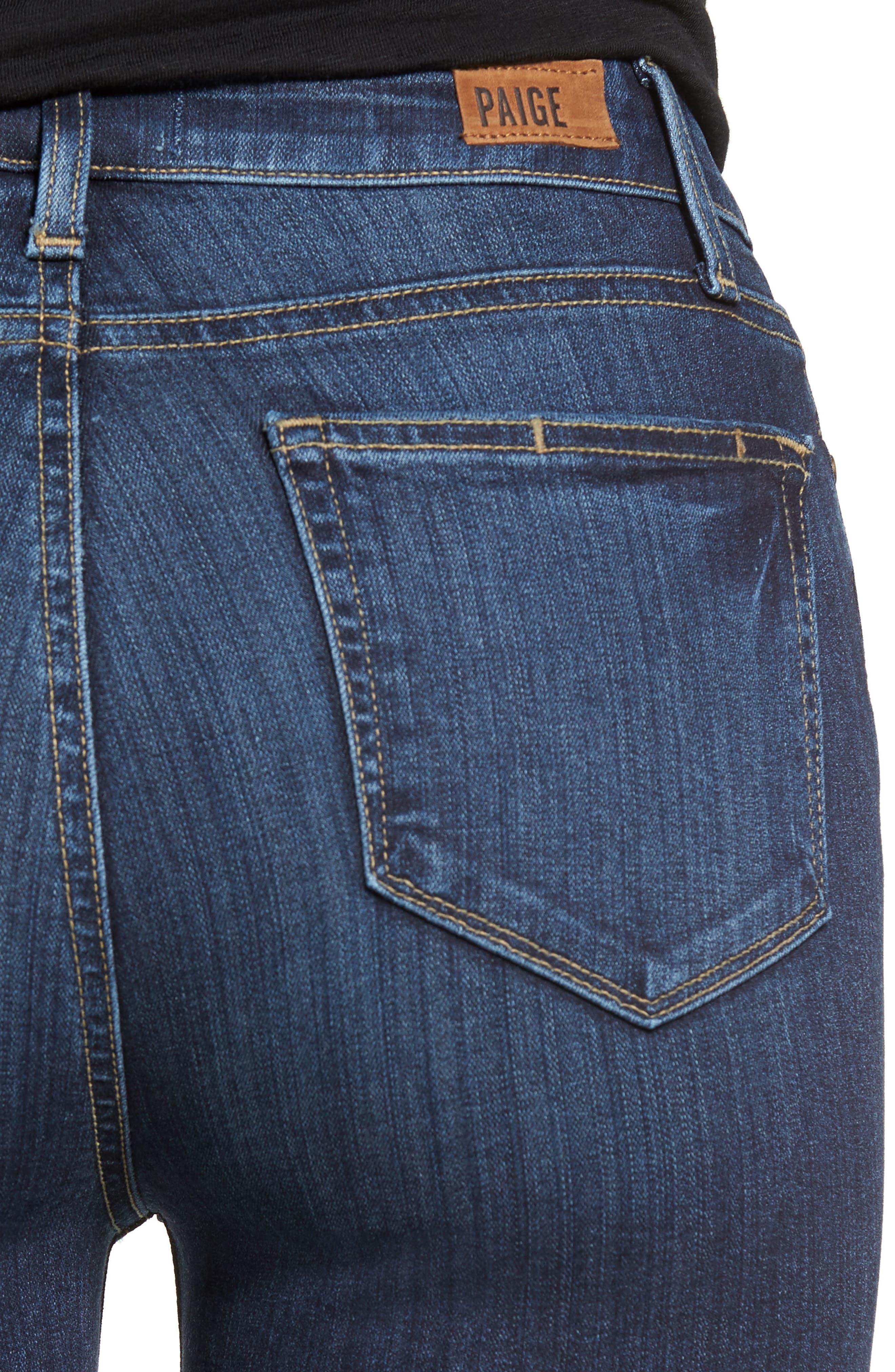 PAIGE, Hoxton High Waist Skinny Jeans, Alternate thumbnail 4, color, 400