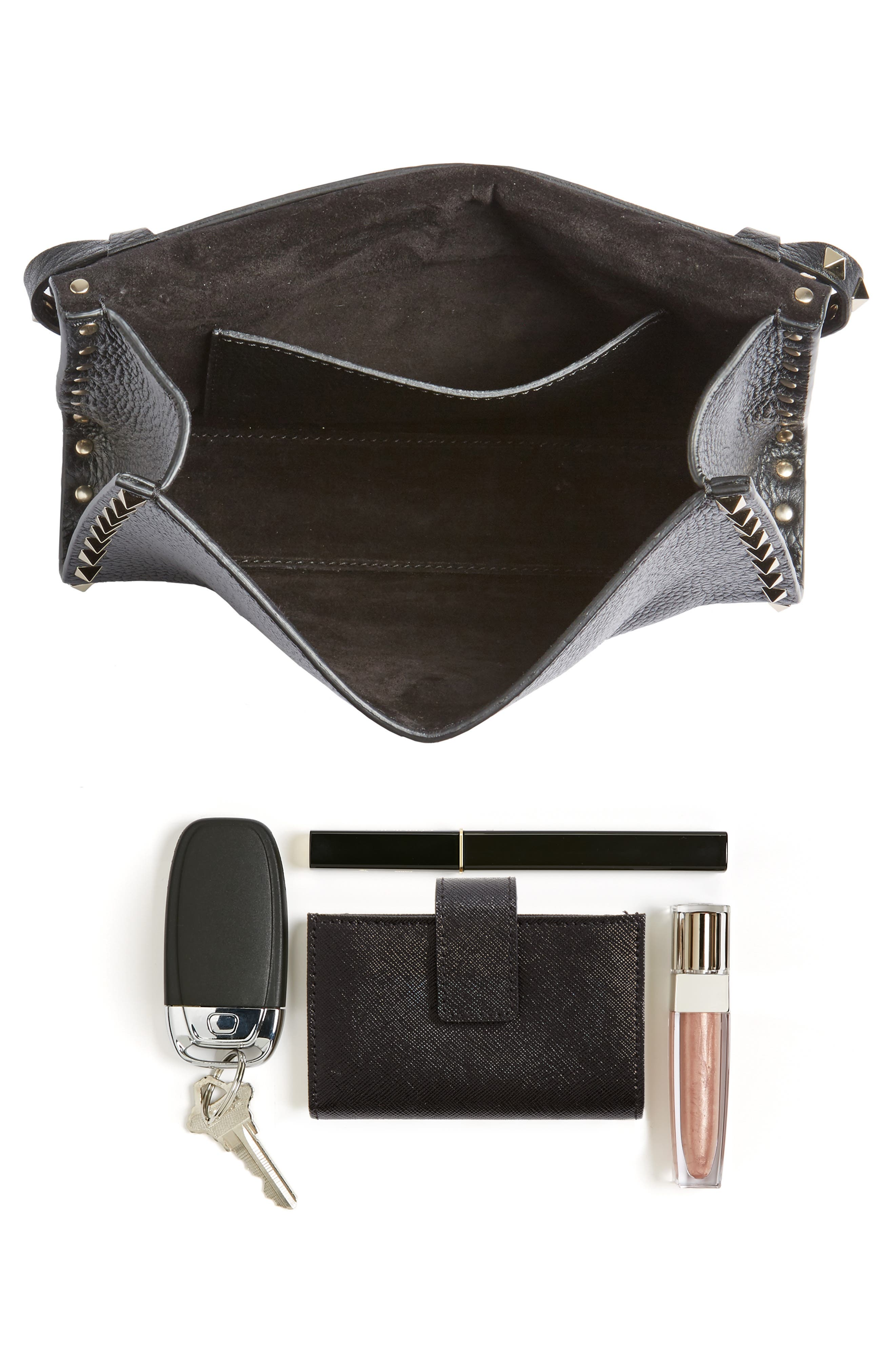 VALENTINO GARAVANI, Medium Rockstud Leather Crossbody Bag, Alternate thumbnail 7, color, 485