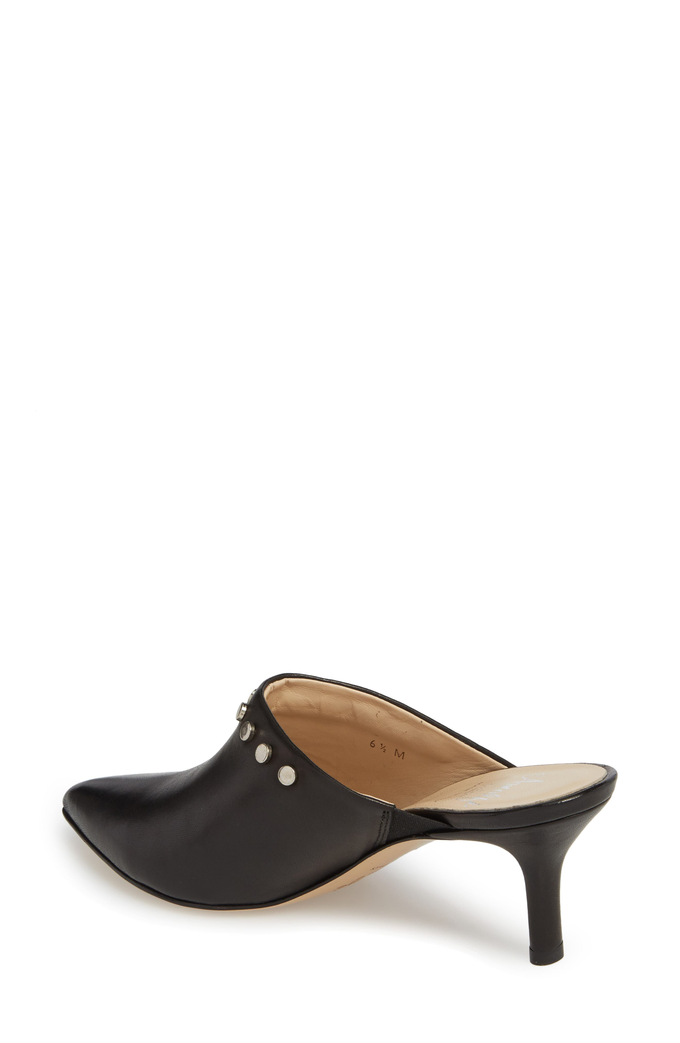 AMALFI BY RANGONI, Priamo Mule, Alternate thumbnail 2, color, BLACK LEATHER
