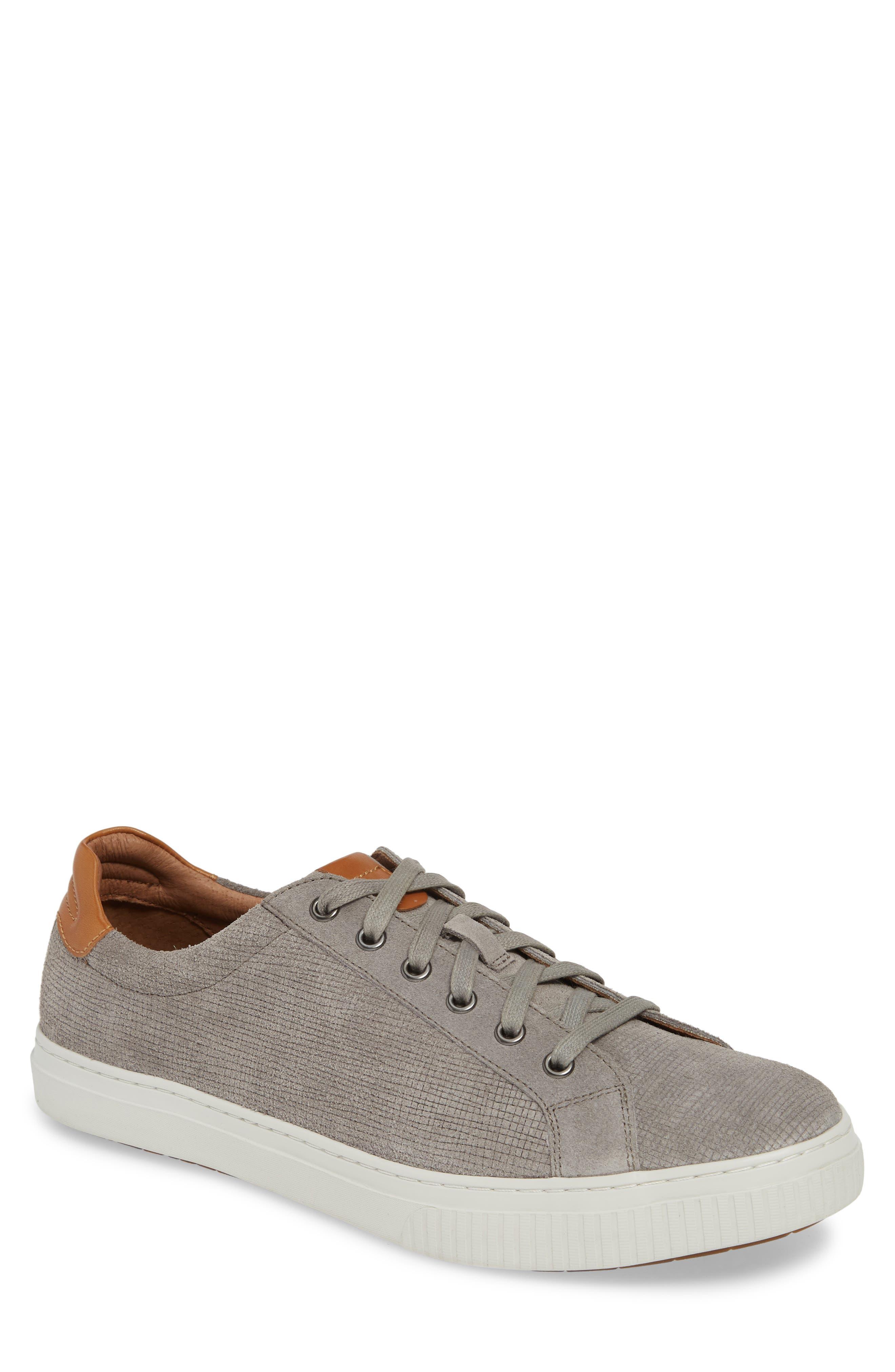 J&M 1850, Toliver Low Top Sneaker, Main thumbnail 1, color, GREY SUEDE