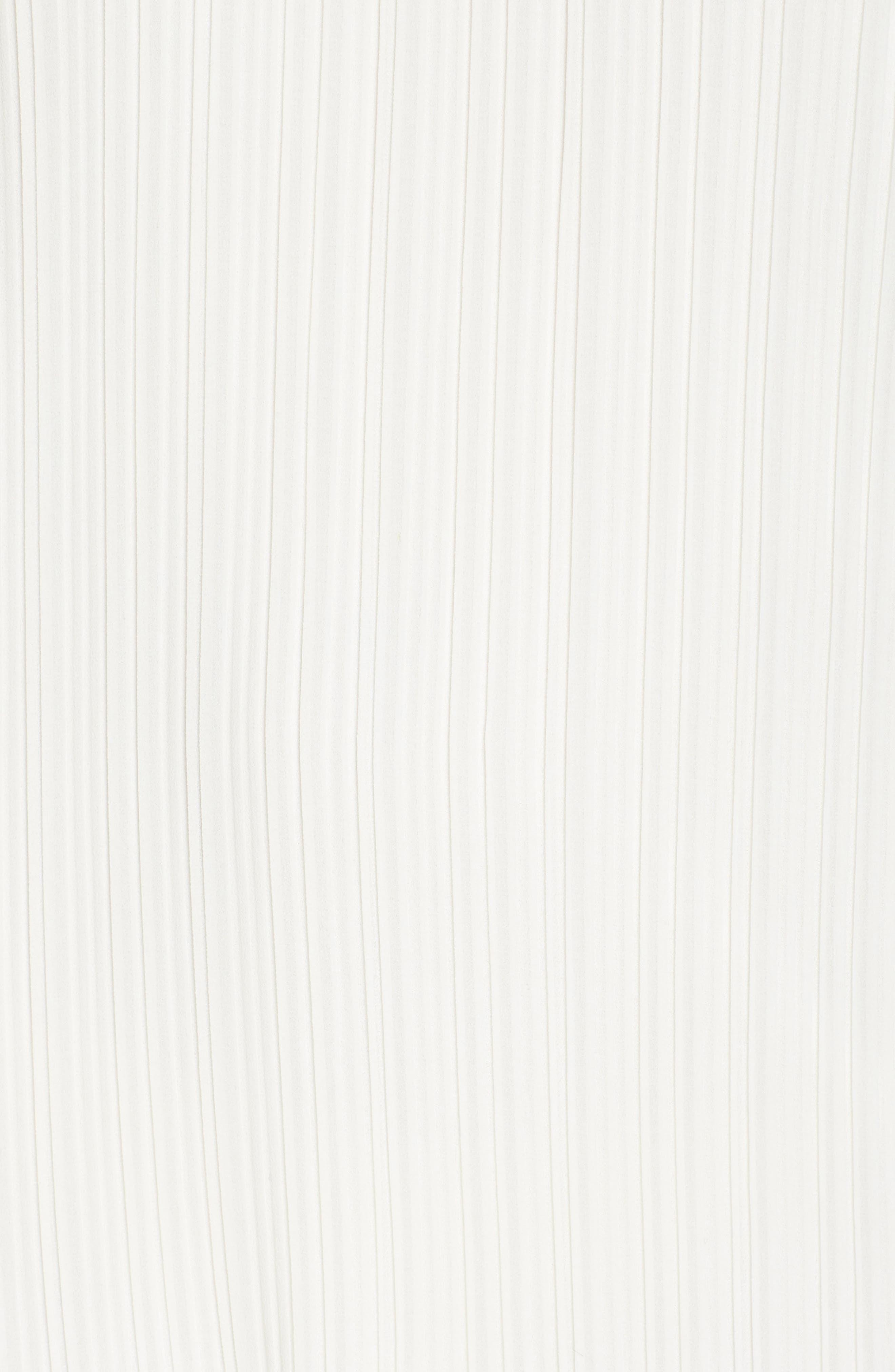 ALI & JAY, Waterlily Pleated Minidress, Alternate thumbnail 6, color, WHITE