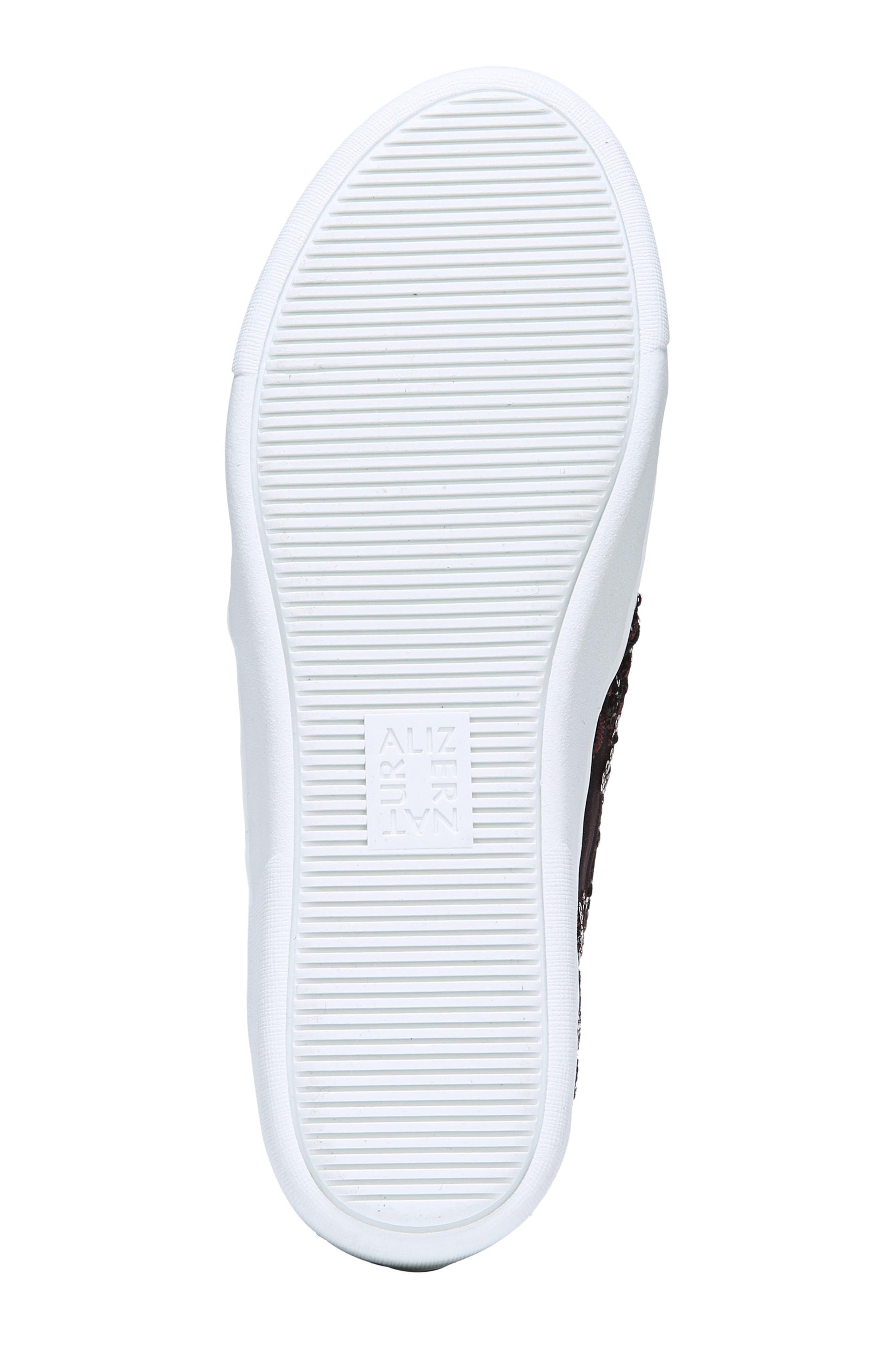 NATURALIZER, Marianne Slip-On Sneaker, Alternate thumbnail 6, color, BURGUNDY EMBROIDERED