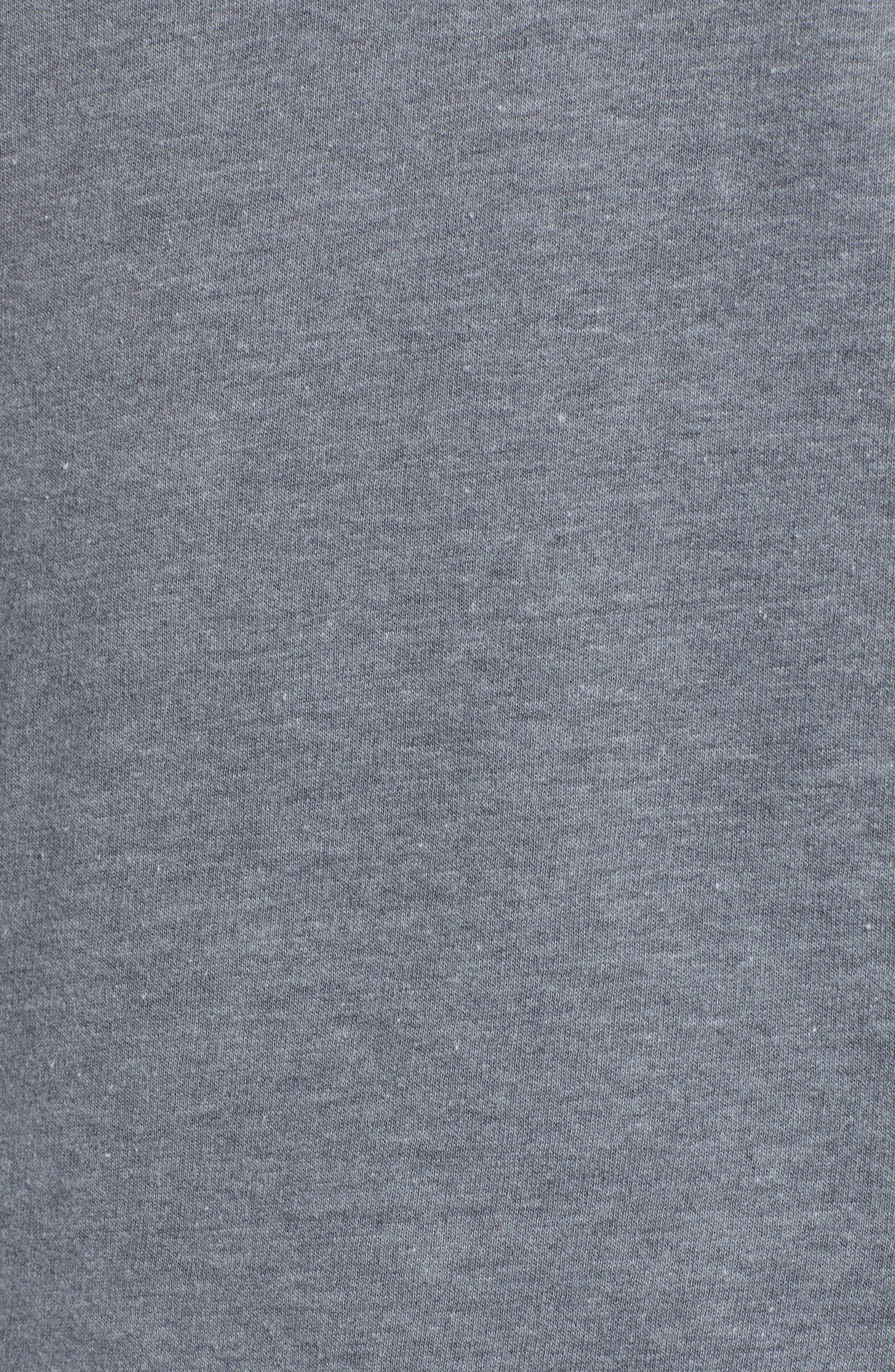 TREASURE & BOND, Varsity Stripe Hoodie, Alternate thumbnail 5, color, GREY TURBULENCE