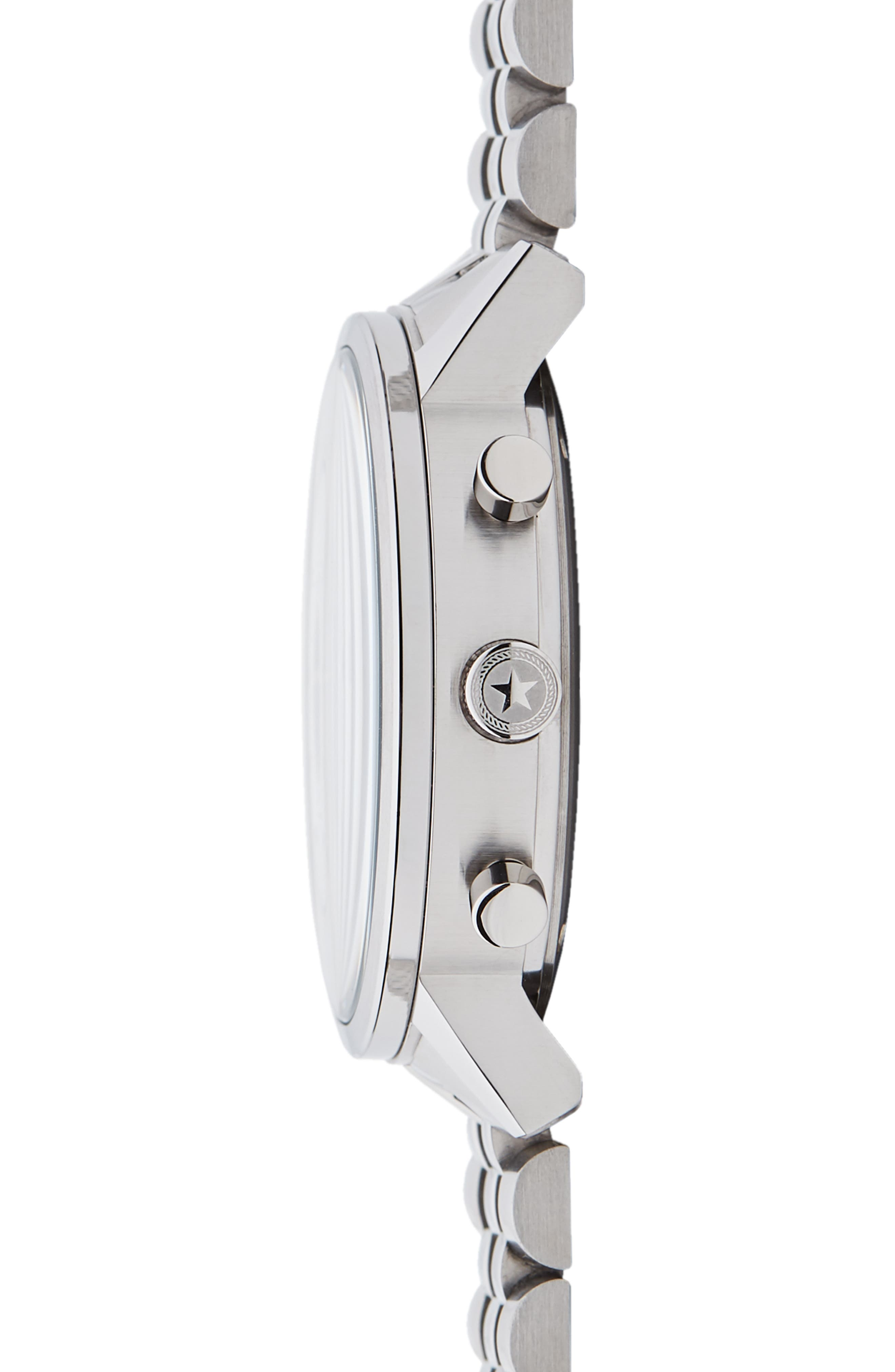 JACK MASON, Racing Chronograph Bracelet Watch, 40mm, Alternate thumbnail 3, color, BLACK