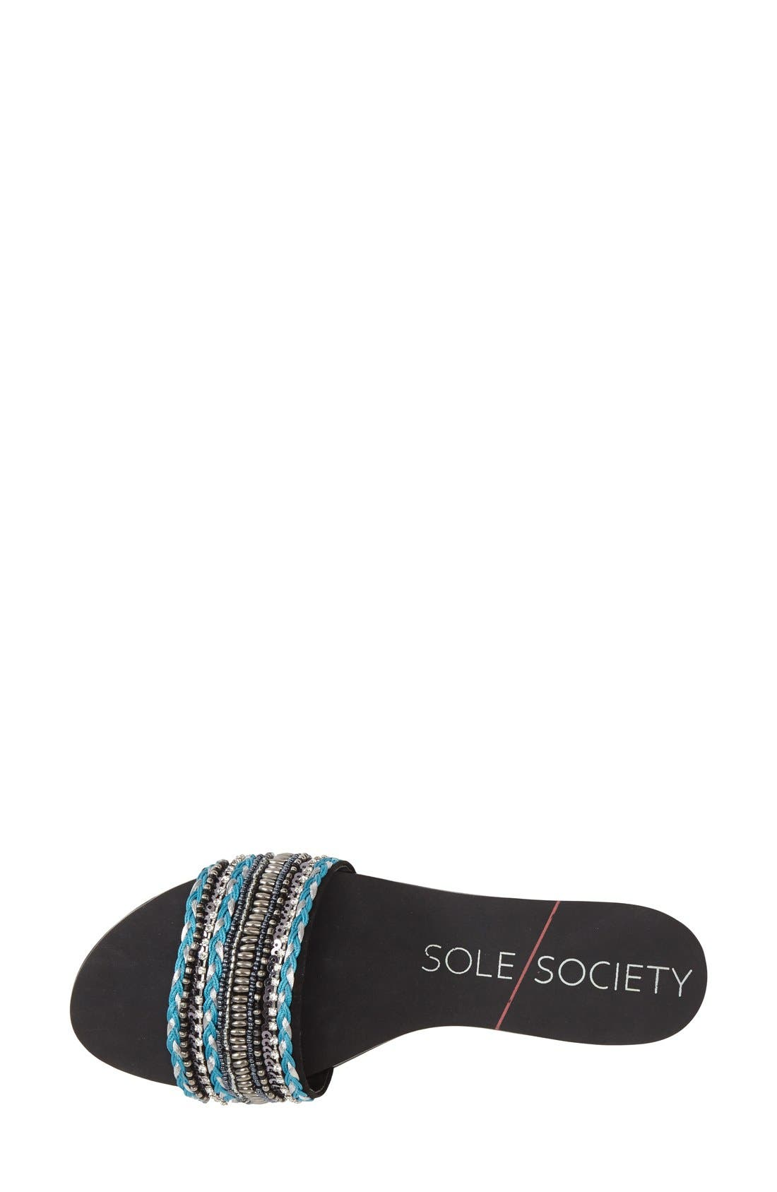 SOLE SOCIETY, 'Eliana' Slide Sandal, Alternate thumbnail 2, color, 001
