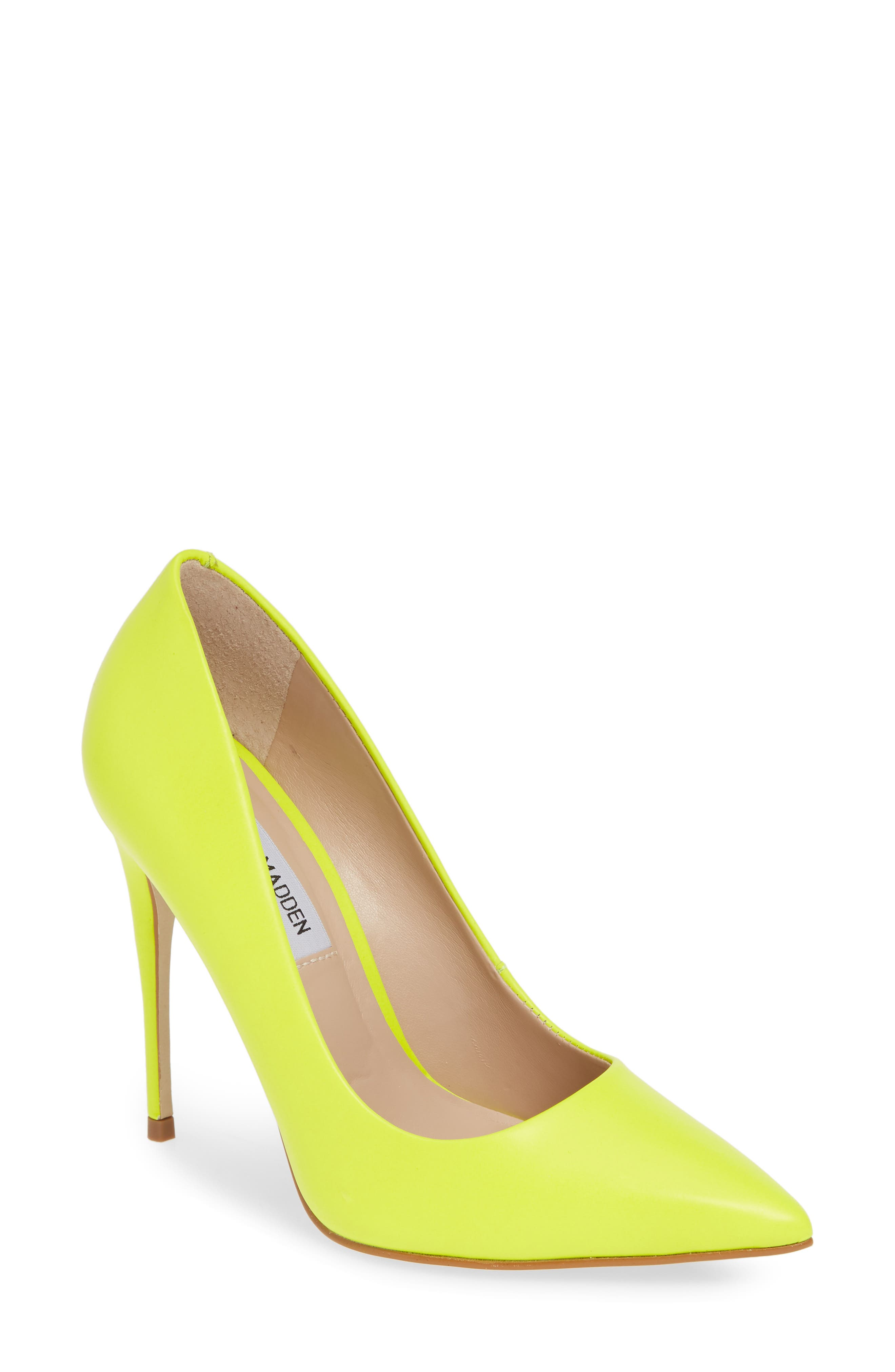 STEVE MADDEN Daisie Pointy-Toe Pump, Main, color, LIME