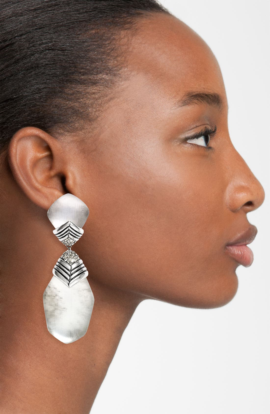 ALEXIS BITTAR, 'O'Keeffe' Drop Shield Clip Earrings, Alternate thumbnail 2, color, 040