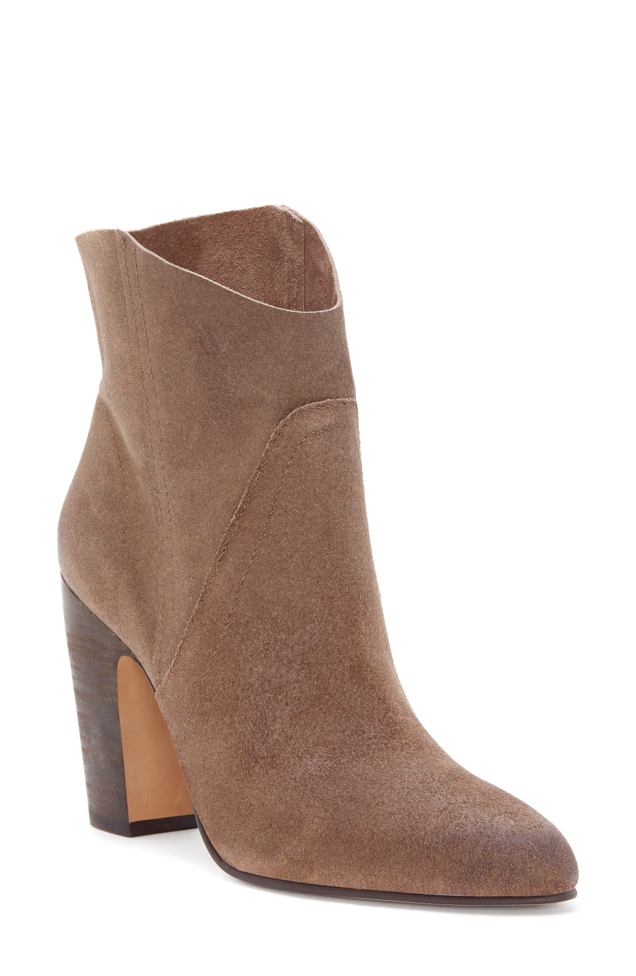 VINCE CAMUTO Creestal Western Bootie, Main, color, BEDROCK LEATHER