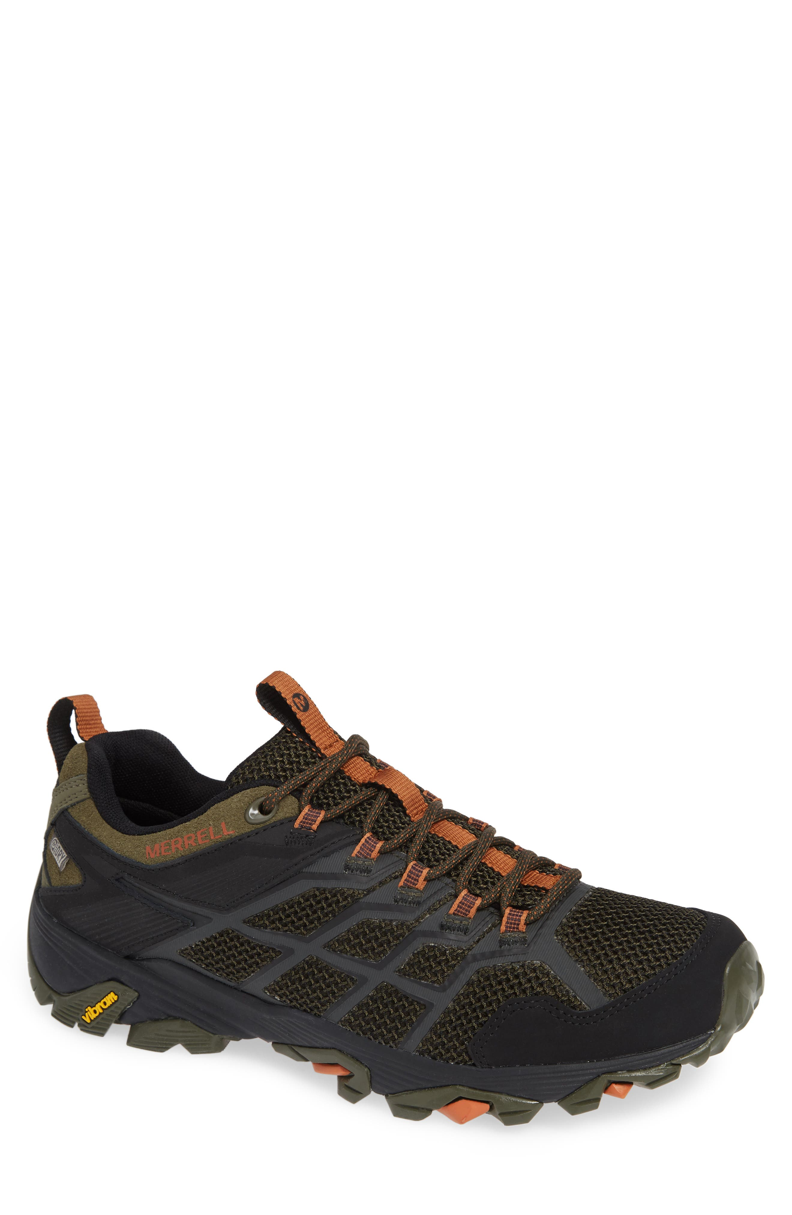 MERRELL, Moab FST 2 Waterproof Hiking Shoe, Main thumbnail 1, color, OLIVE/ ADOBE