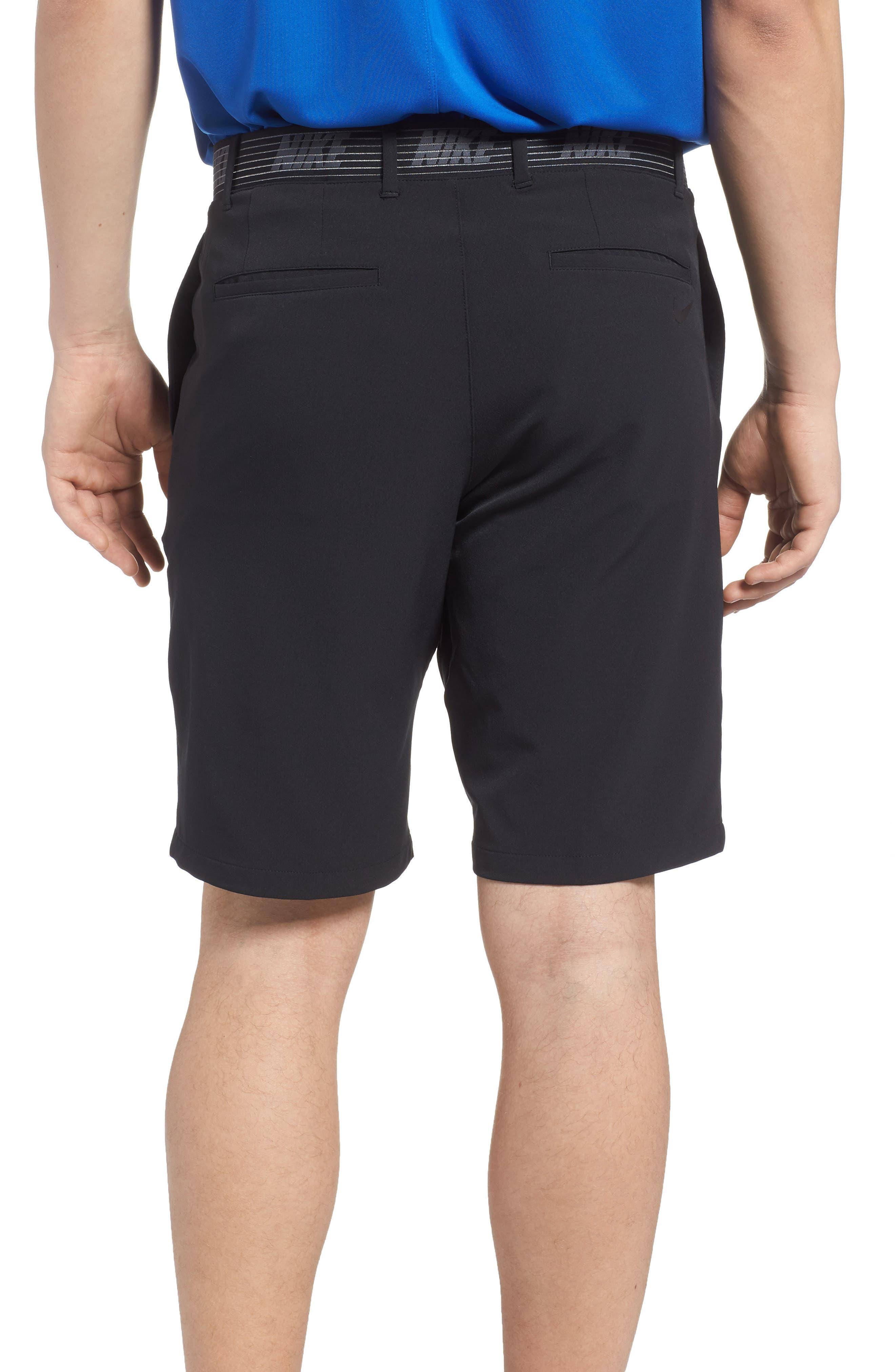 NIKE, Flex Slim Fit Dri-FIT Golf Shorts, Alternate thumbnail 2, color, BLACK/ BLACK