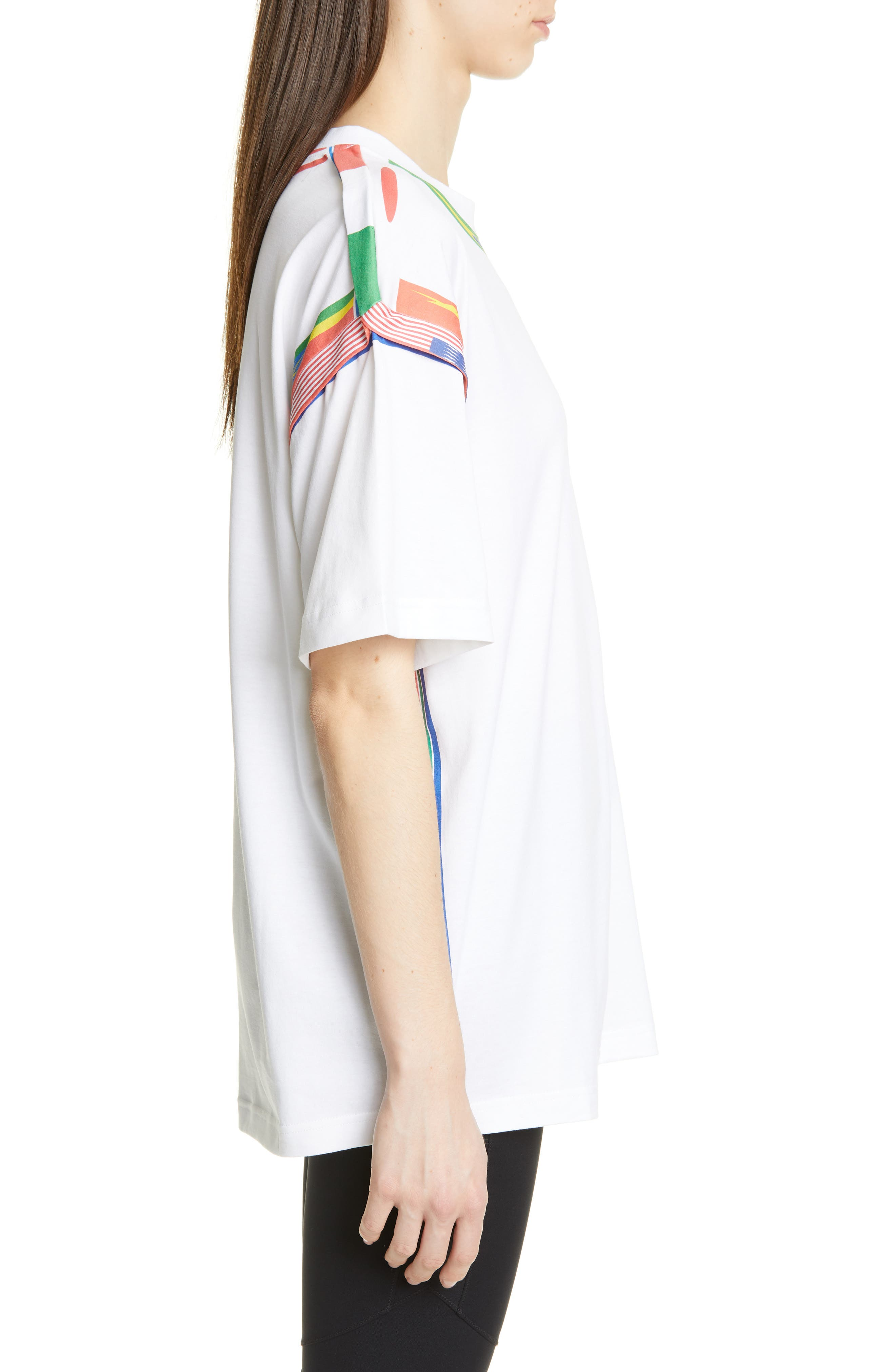 Y/PROJECT, Flag Print Tee, Alternate thumbnail 3, color, WHITE
