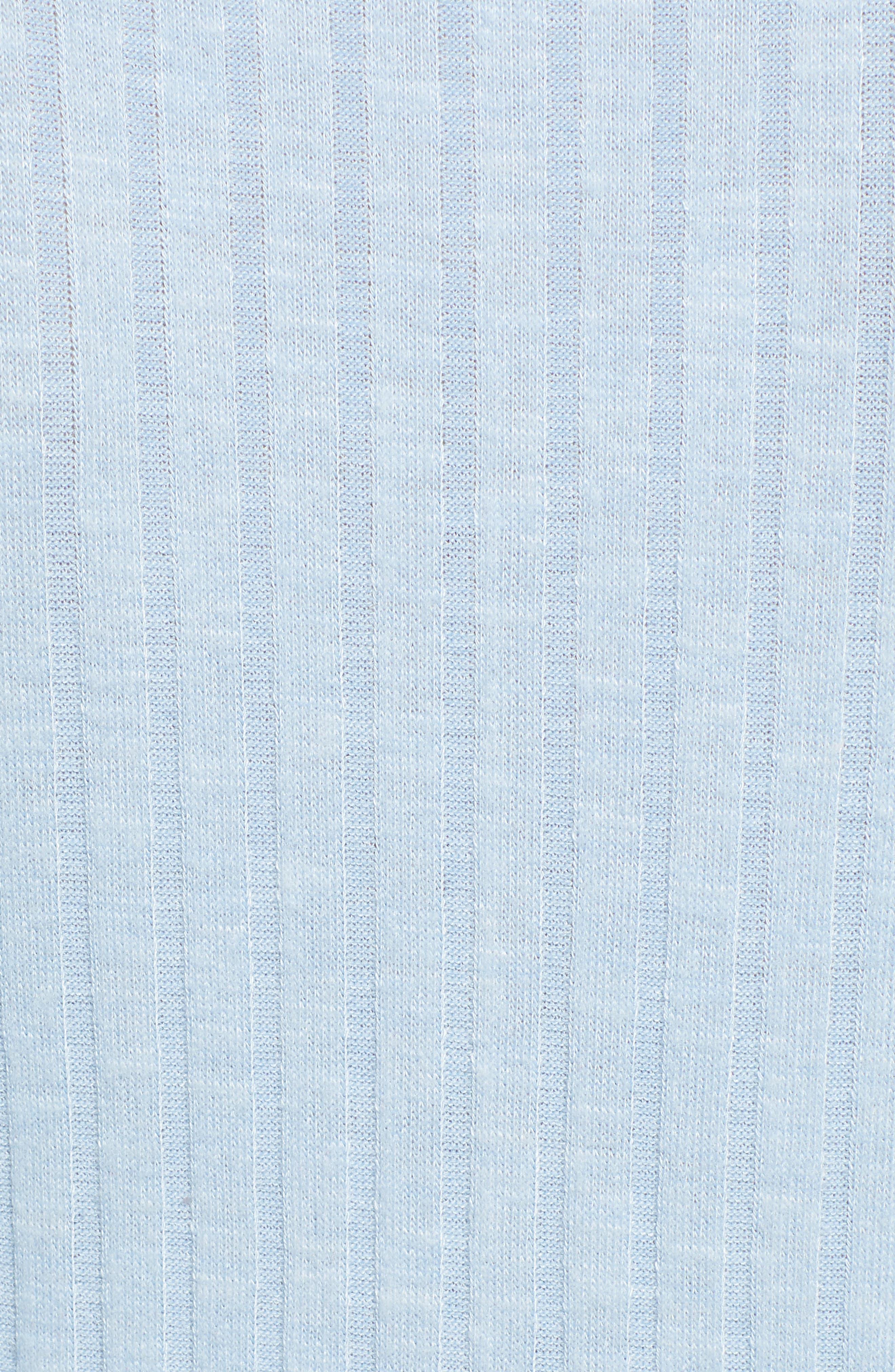 BP., Belted Wrap Top, Alternate thumbnail 6, color, BLUE PLACID