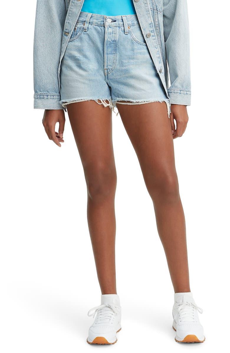 Levi's Shorts 501 HIGH WAIST CUTOFF DENIM SHORTS
