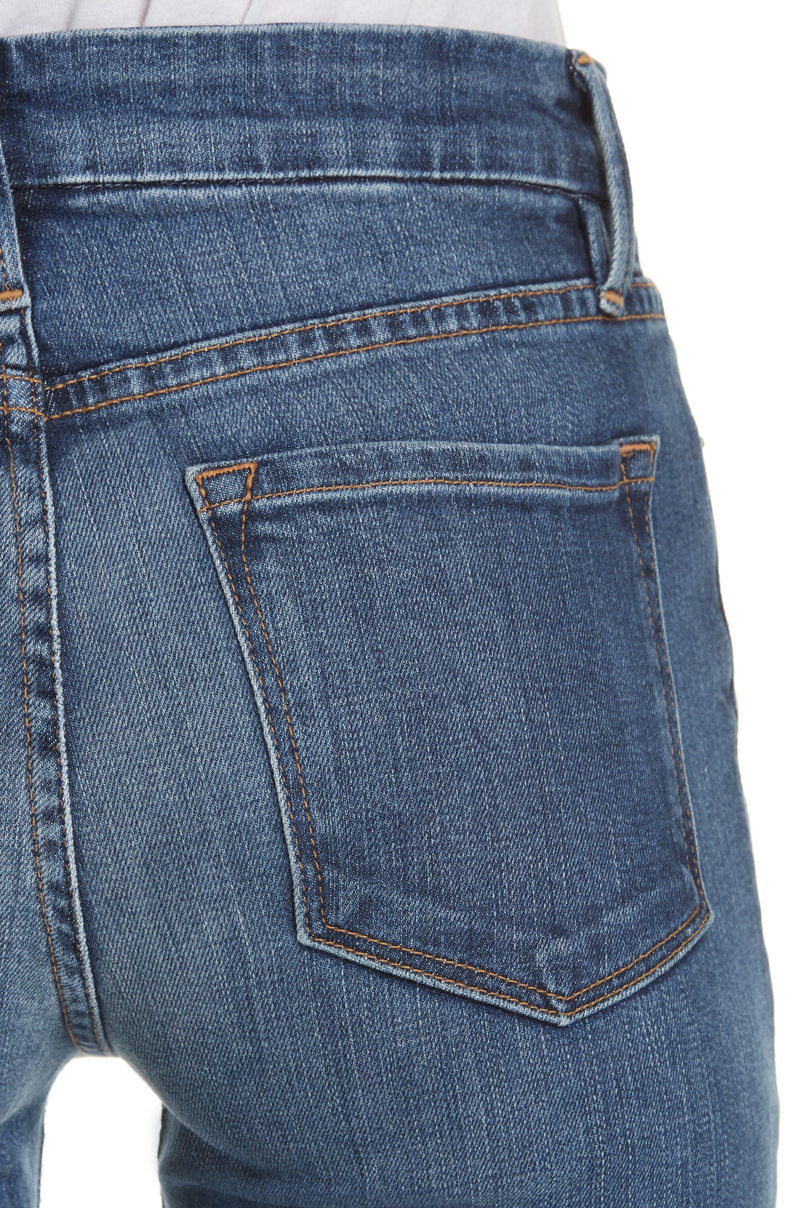 FRAME, Le Mini Boot Jeans, Alternate thumbnail 5, color, BLENDON