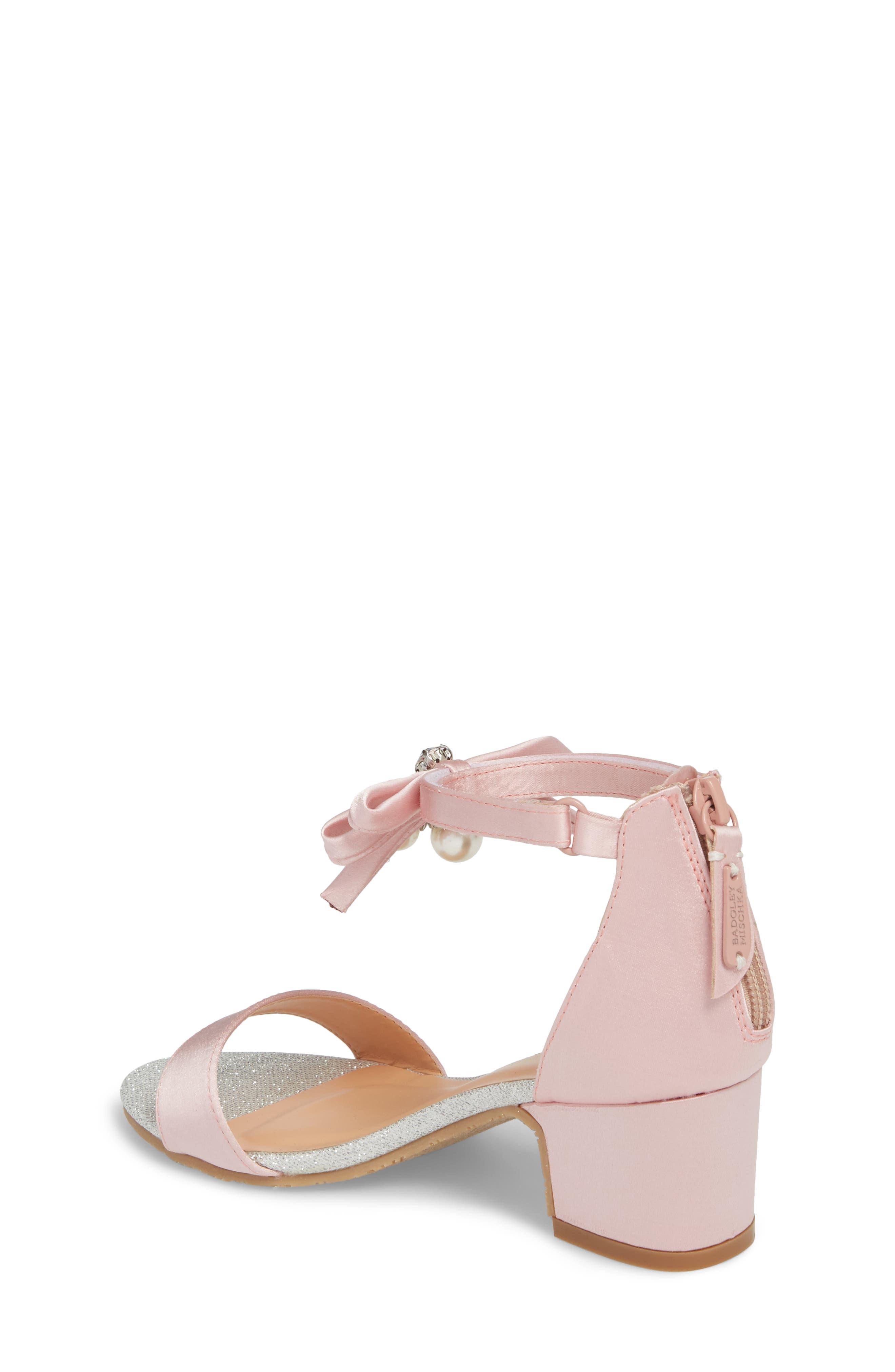 BADGLEY MISCHKA COLLECTION, Badgley Mischka Pernia Embellished Sandal, Alternate thumbnail 2, color, PINK/ SILVER