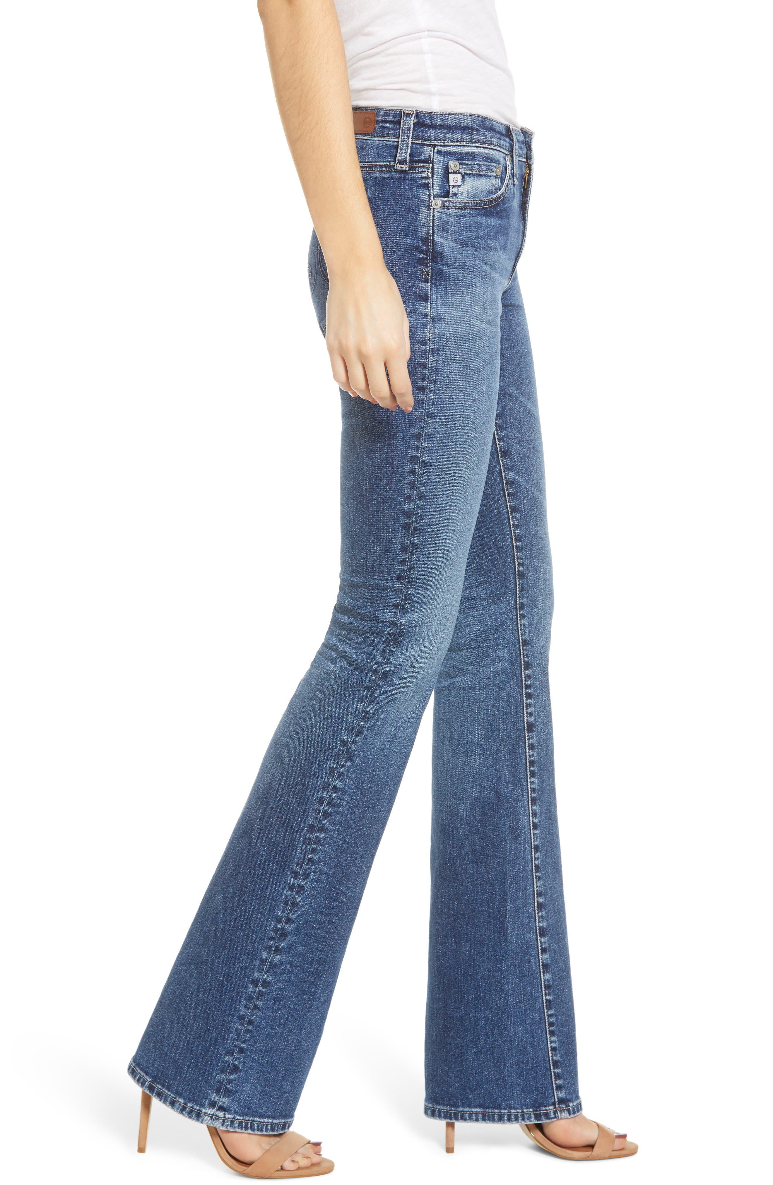 AG, Angel Flare Jeans, Alternate thumbnail 4, color, 12 YEARS FLUID