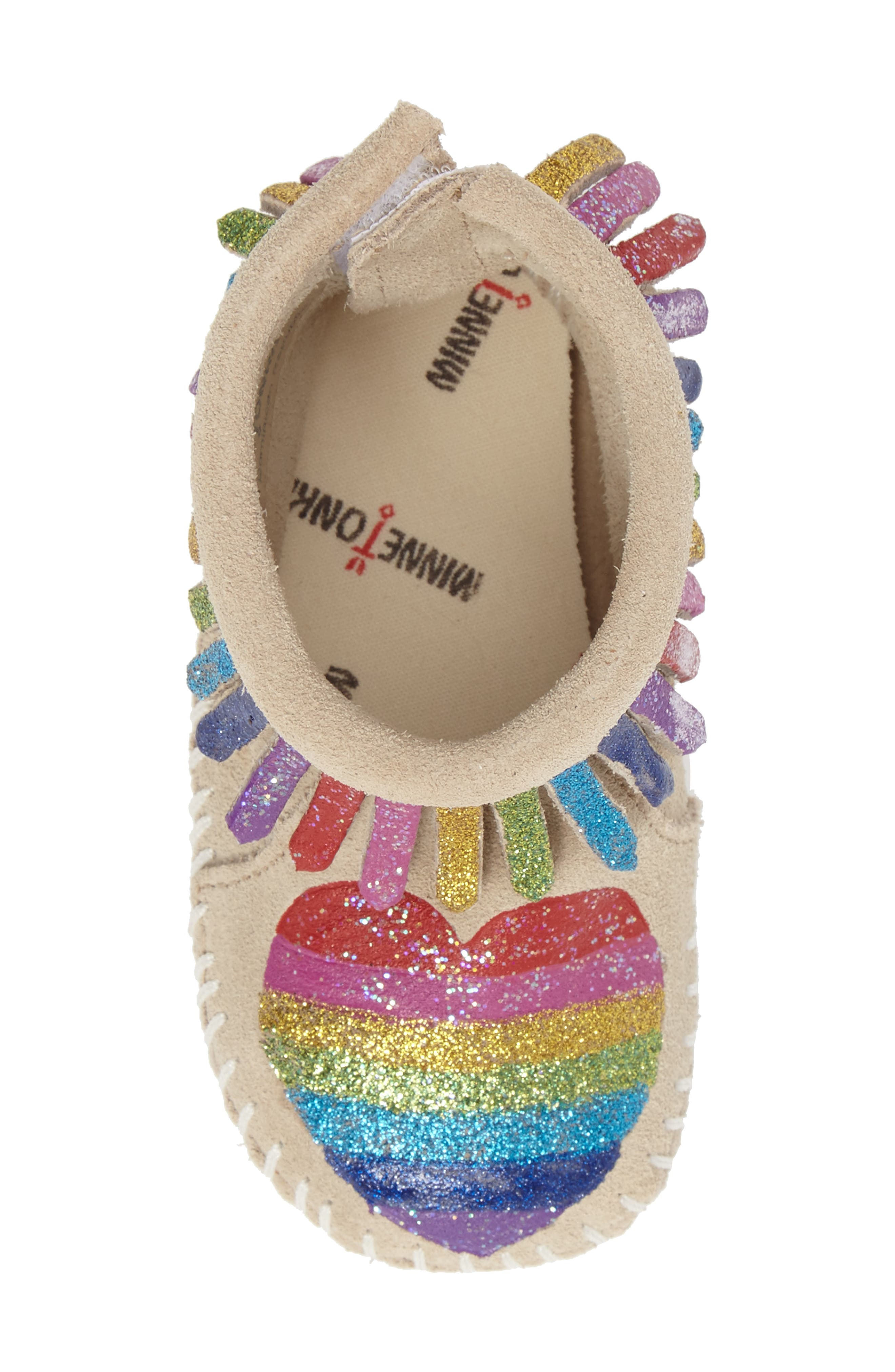 MINNETONKA, x Free Range Mama Love One Another Bootie, Alternate thumbnail 5, color, STONE