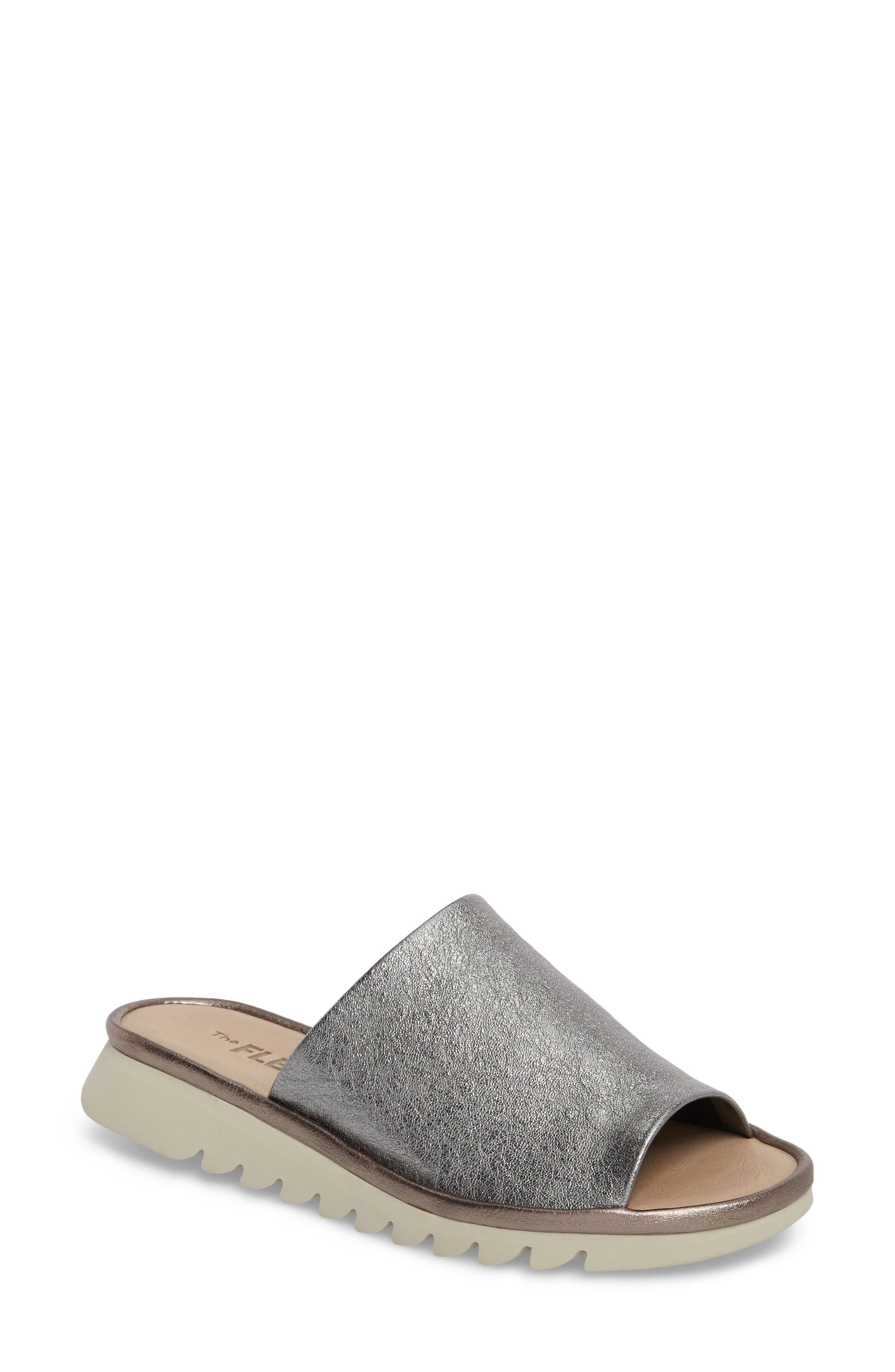 The Flexx Shore Thing Slide Sandal- Metallic