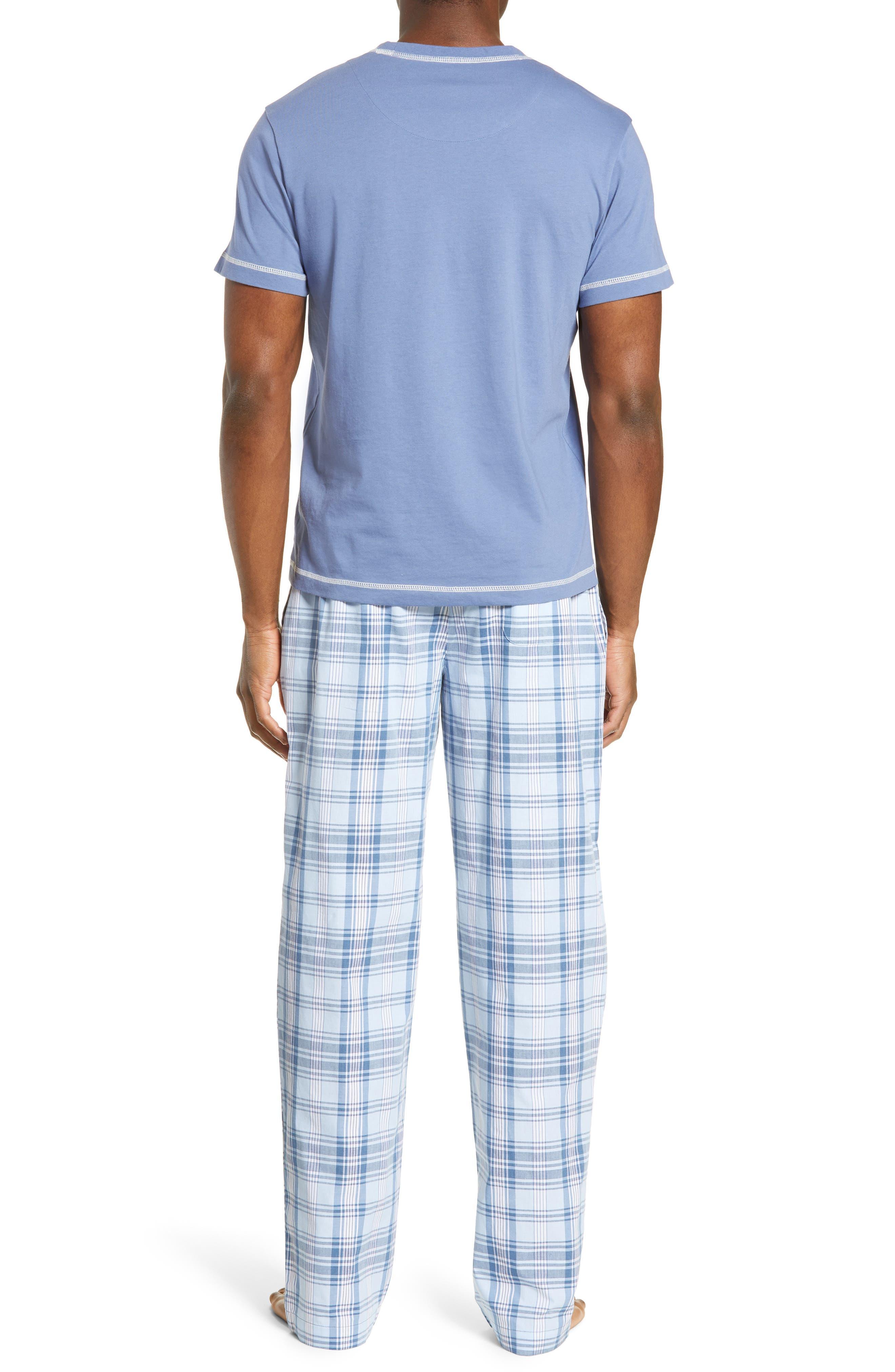 MAJESTIC INTERNATIONAL, Check Mates Pajamas, Alternate thumbnail 2, color, CAPRI