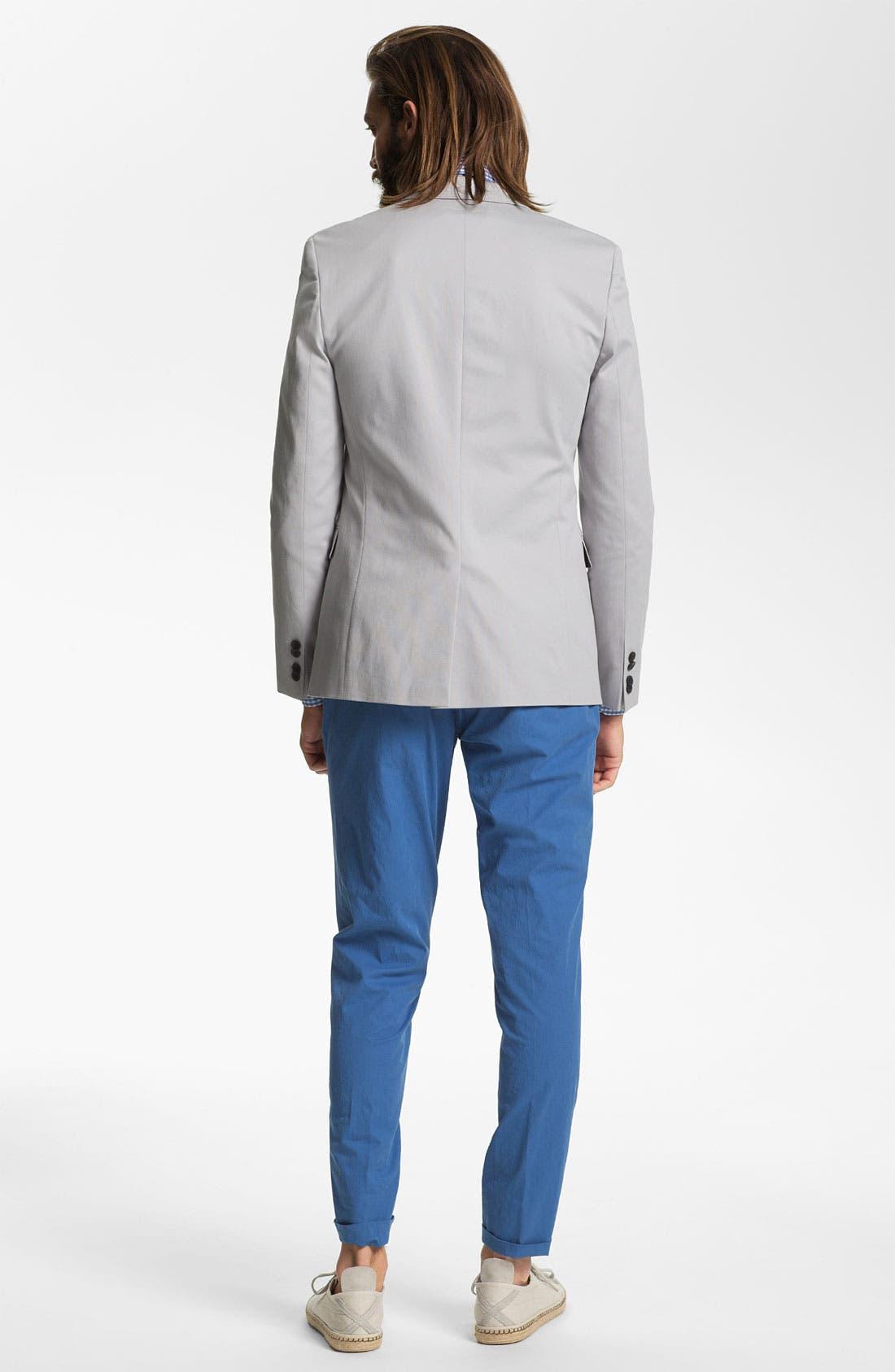 ZZDNUHUGO BOSS, HUGO 'Aeris' Trim Fit Cotton Blend Blazer, Alternate thumbnail 6, color, 030