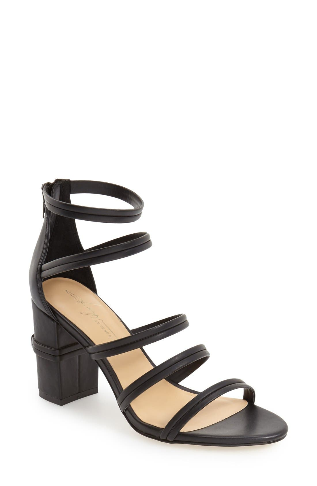 DAYA, by Zendaya 'Amiee' Strappy Sandal, Main thumbnail 1, color, 001