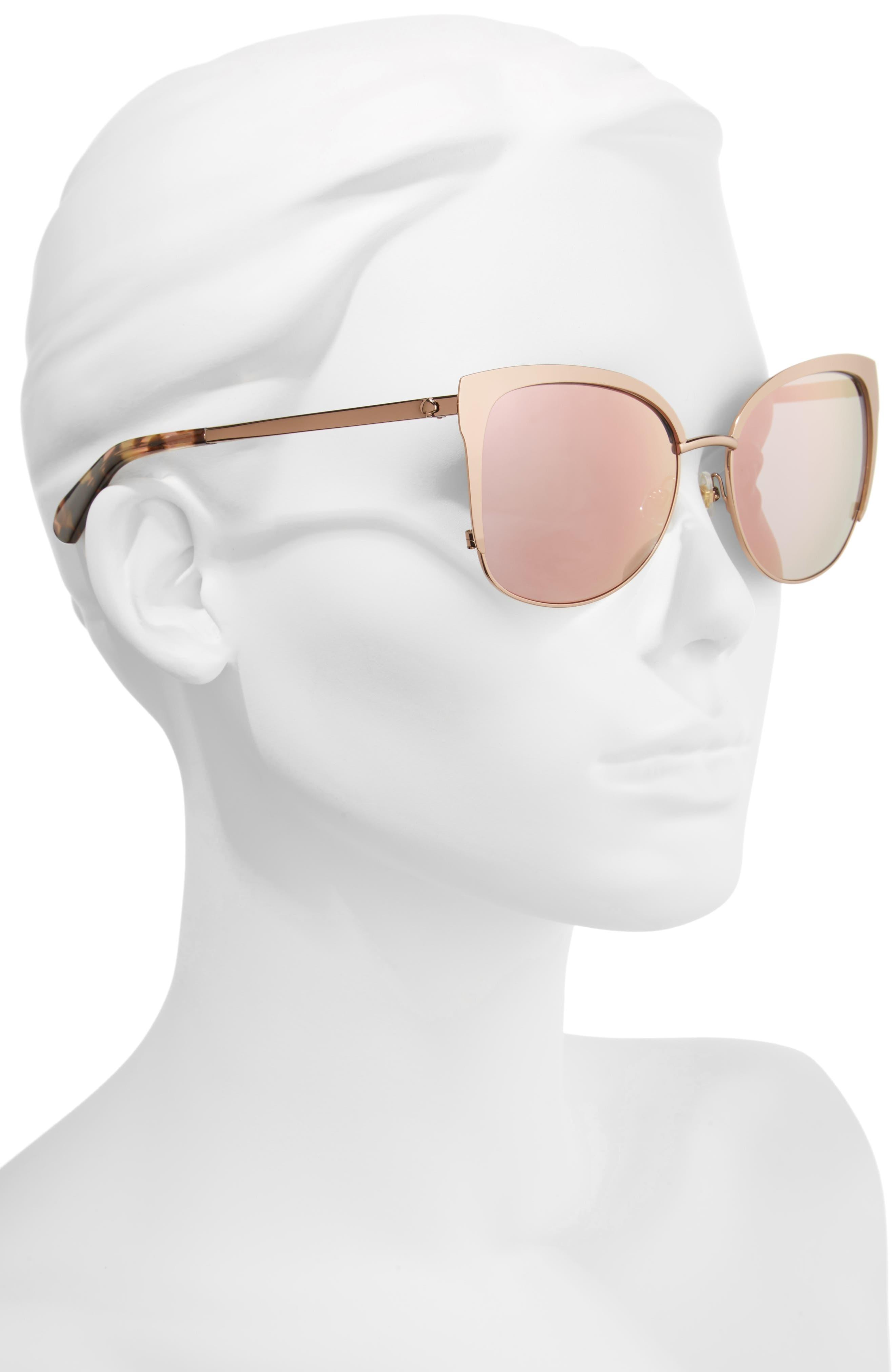 KATE SPADE NEW YORK, 'genice' 57mm cat-eye sunglasses, Alternate thumbnail 2, color, 710