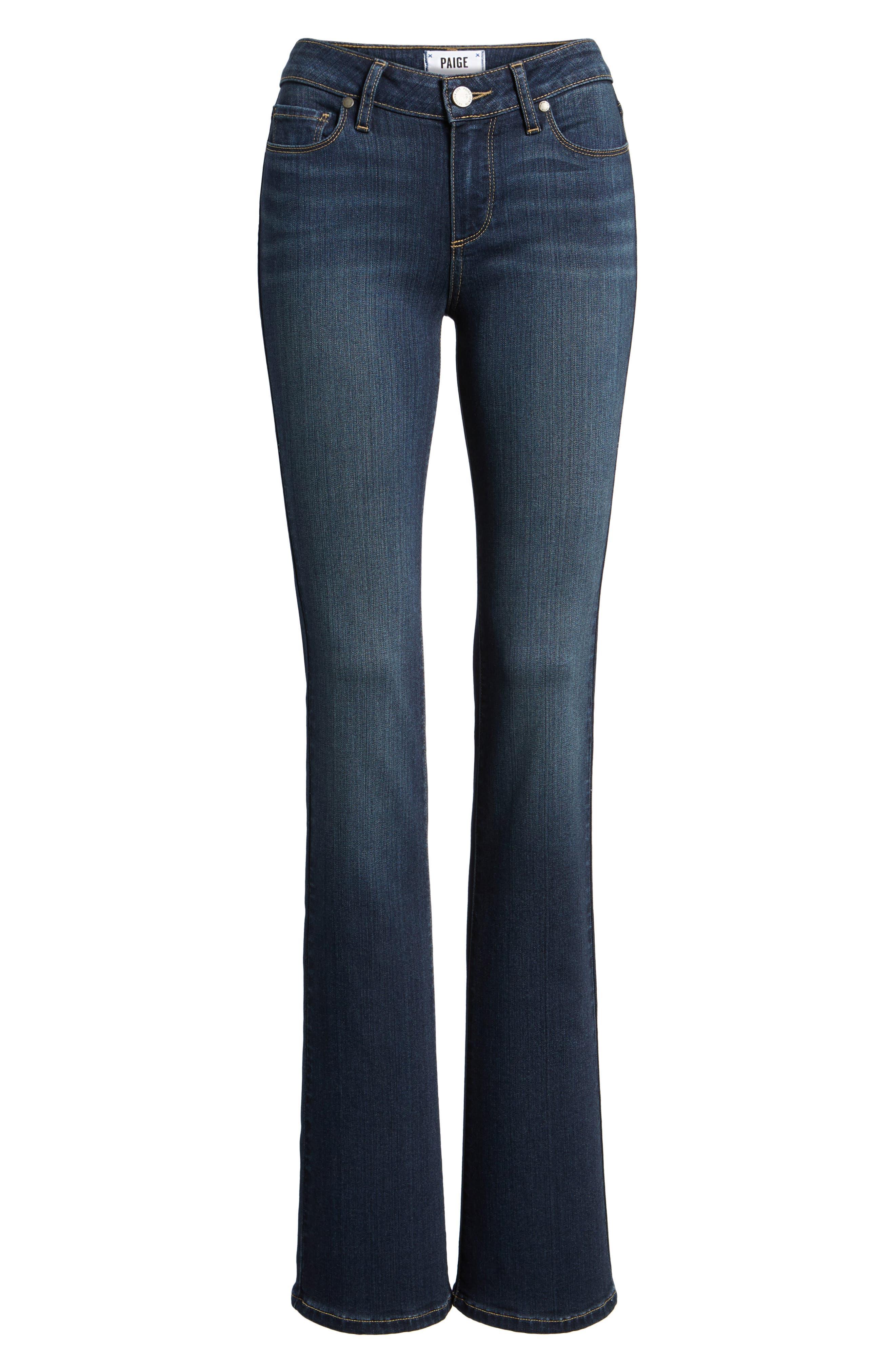PAIGE, Transcend - Manhattan Bootcut Jeans, Alternate thumbnail 7, color, NOTTINGHAM