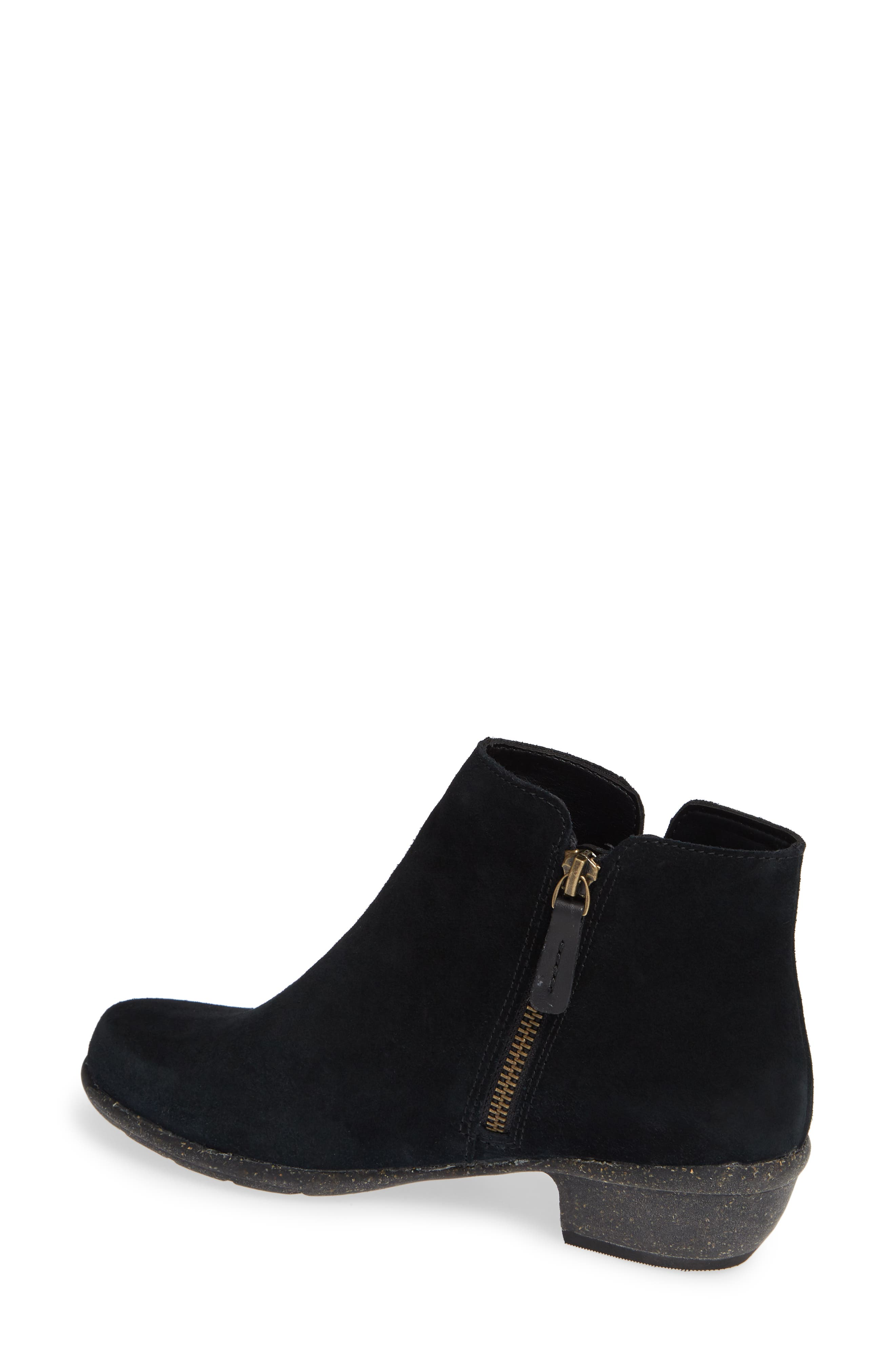 CLARKS<SUP>®</SUP>, Wilrose Frost Bootie, Alternate thumbnail 2, color, BLACK SUEDE