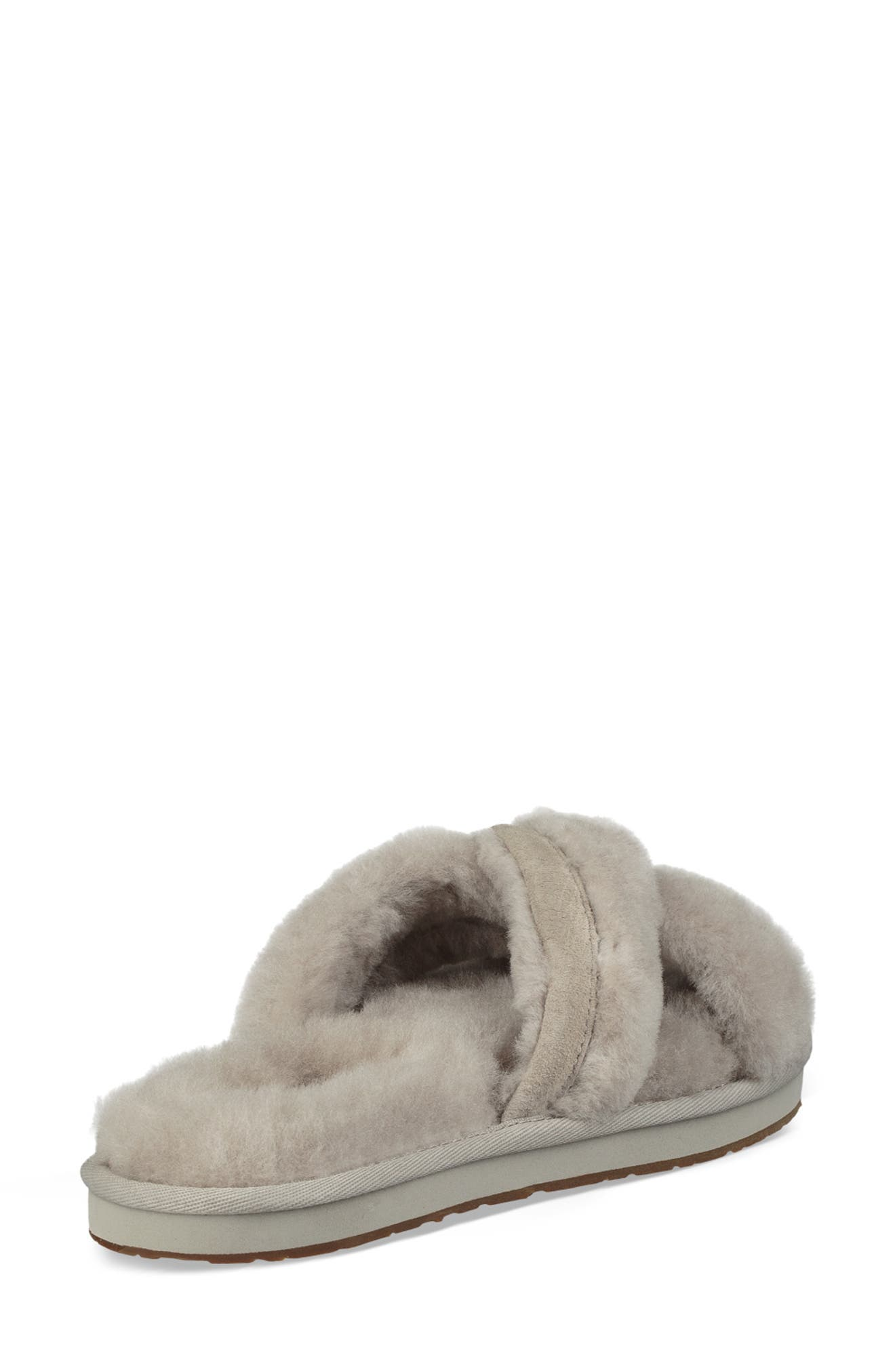 UGG<SUP>®</SUP>, Abela Genuine Shearling Flip Flop, Alternate thumbnail 2, color, 020