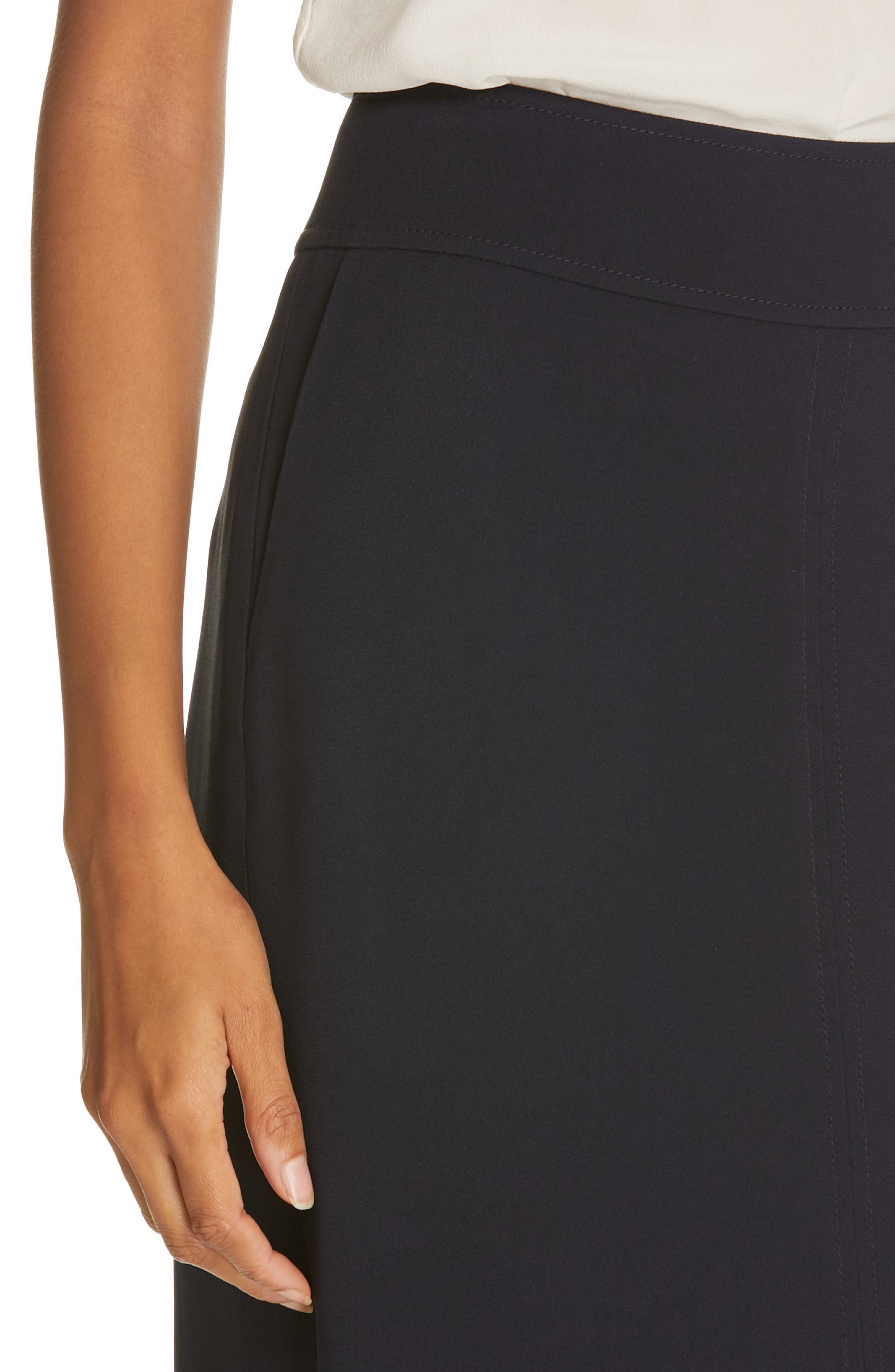 LEWIT, Pencil Skirt, Alternate thumbnail 4, color, NAVY NIGHT