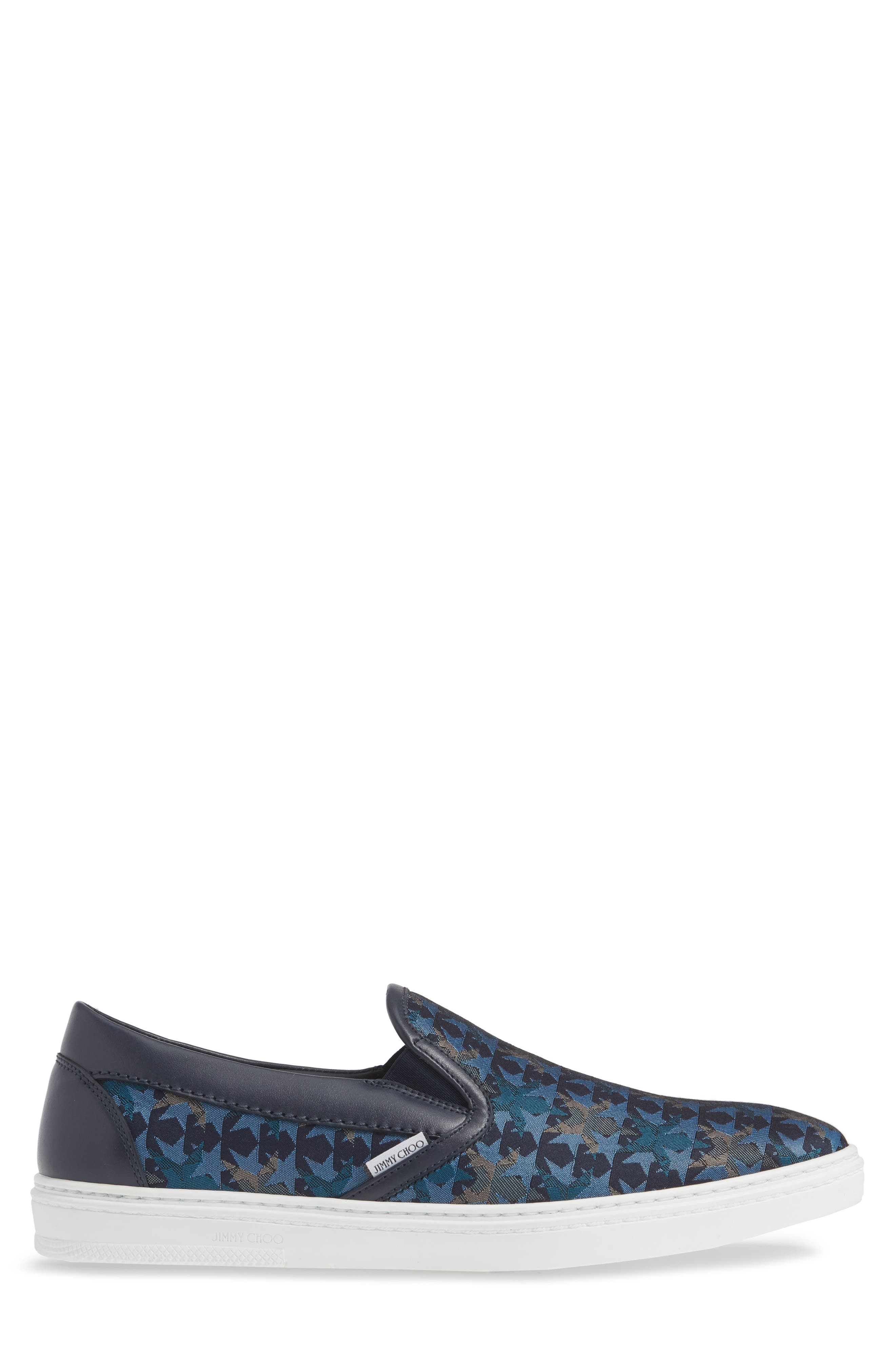 JIMMY CHOO, Grove Slip-On, Alternate thumbnail 3, color, 420