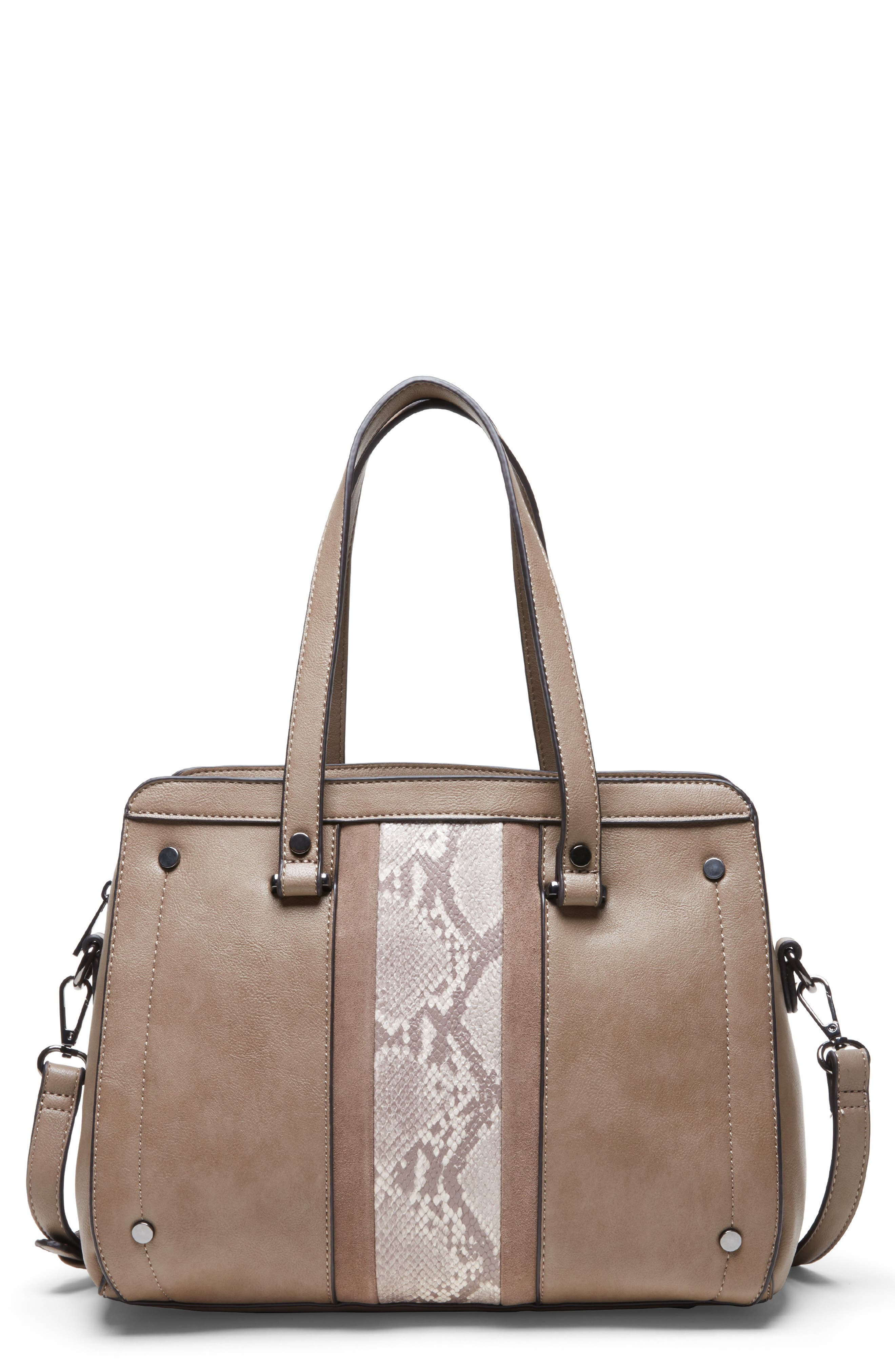 SOLE SOCIETY, Ragna Satchel, Main thumbnail 1, color, MUSHROOM COMBO