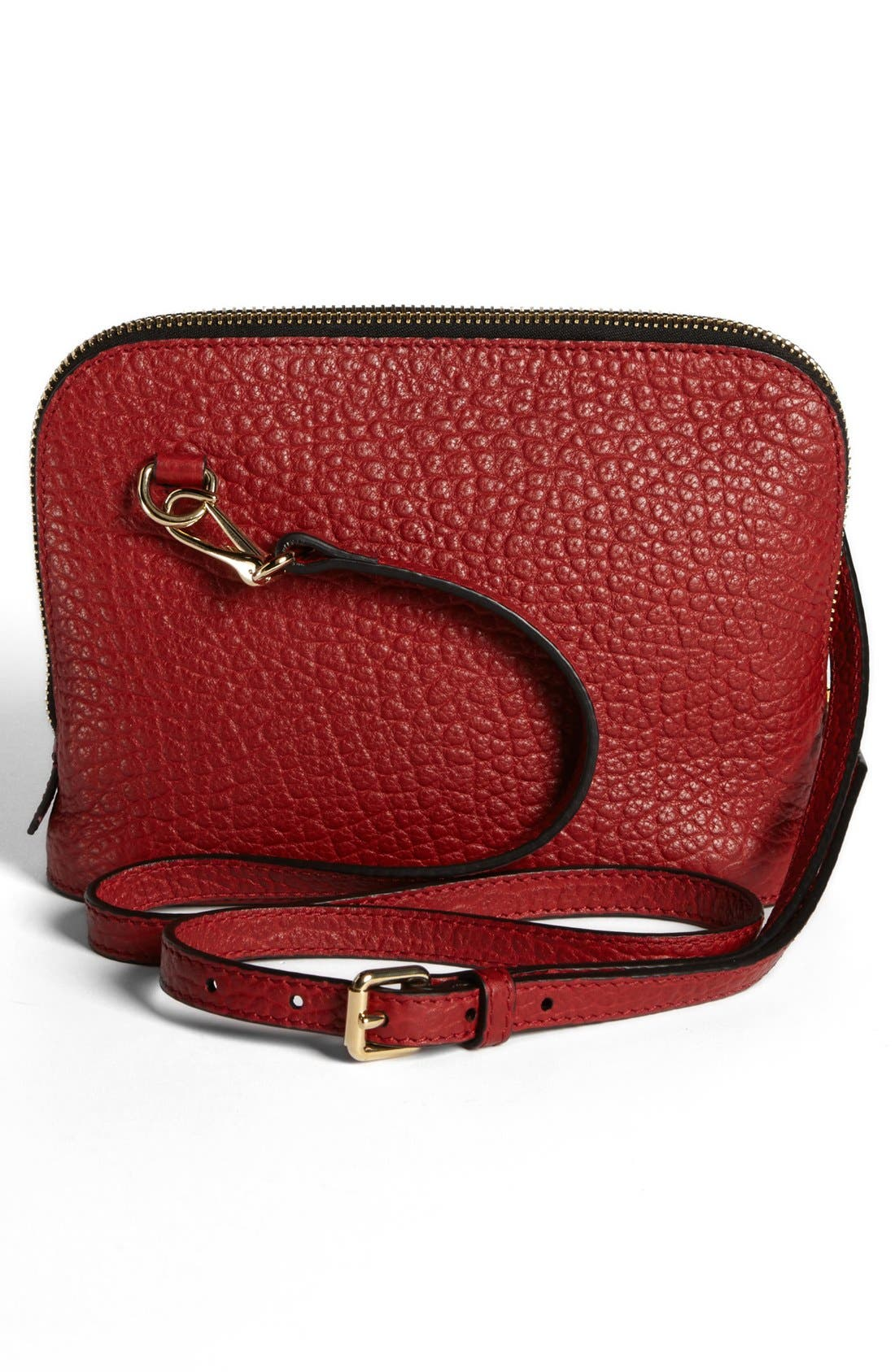 BURBERRY, 'Small Harrogate' Leather Crossbody Bag, Alternate thumbnail 2, color, 608