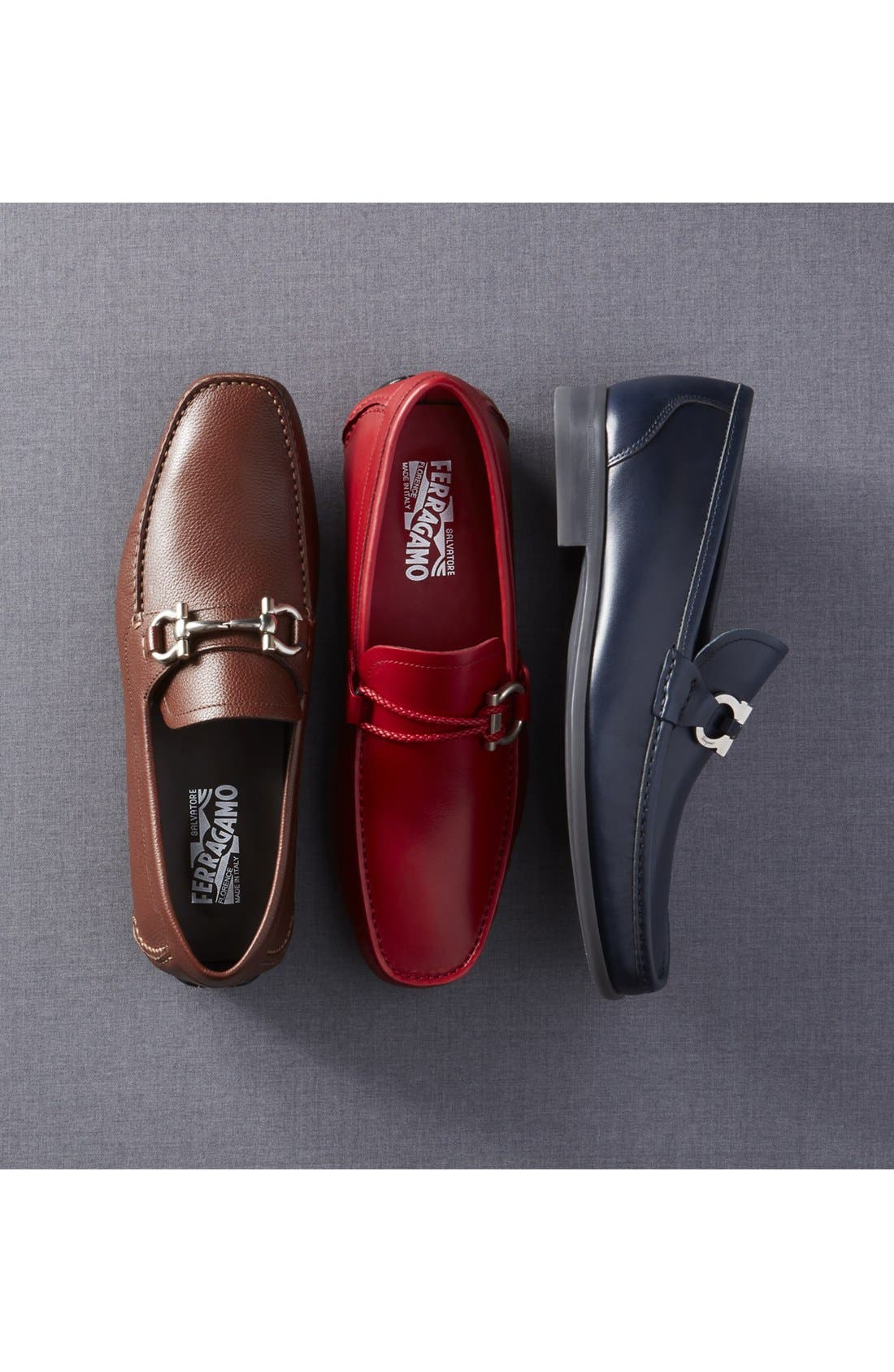 SALVATORE FERRAGAMO, Parigi Bit Driving Moccasin, Alternate thumbnail 7, color, ASFALTO NERO