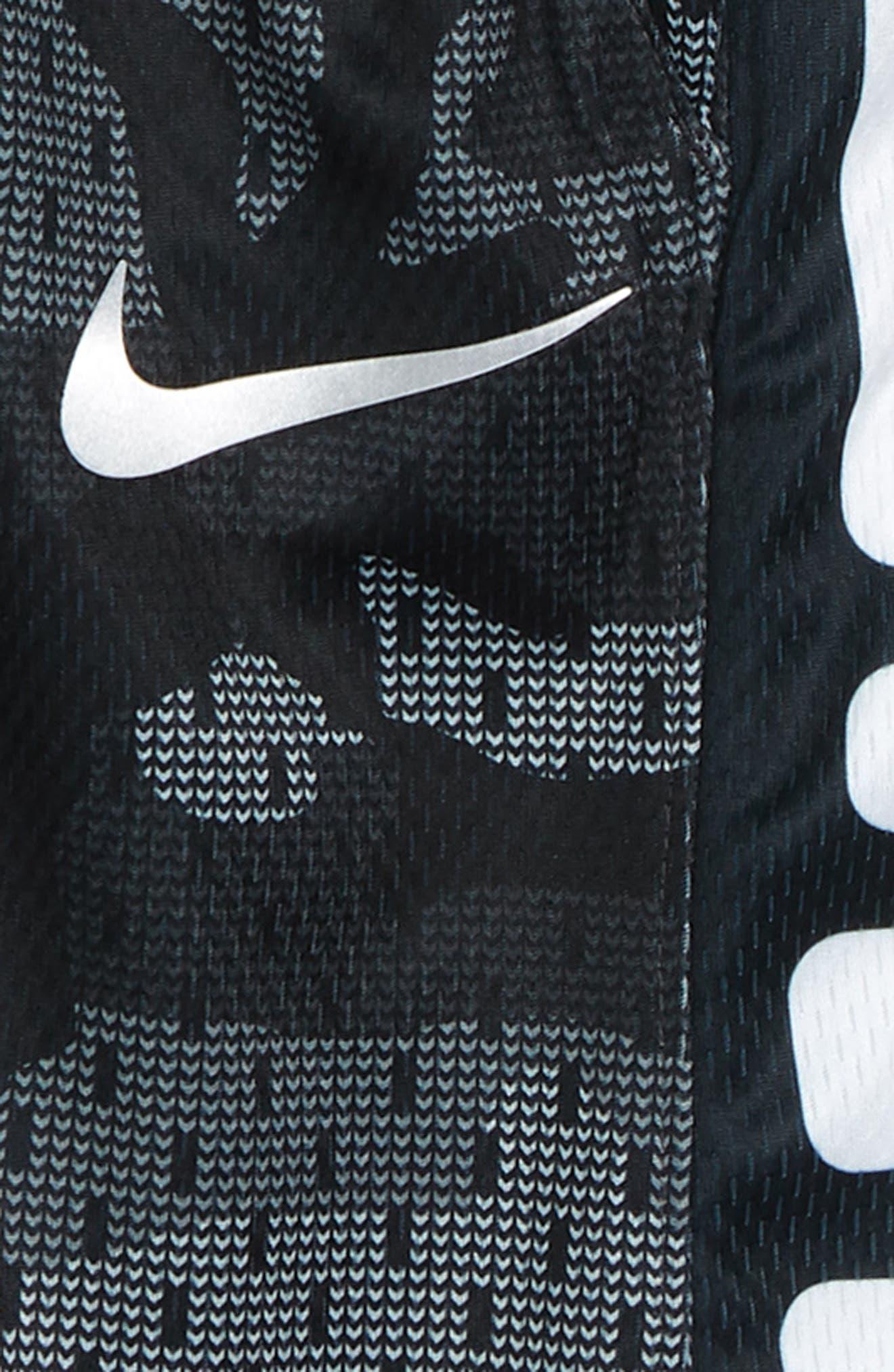 NIKE, Dry Elite Basketball Shorts, Alternate thumbnail 2, color, 020