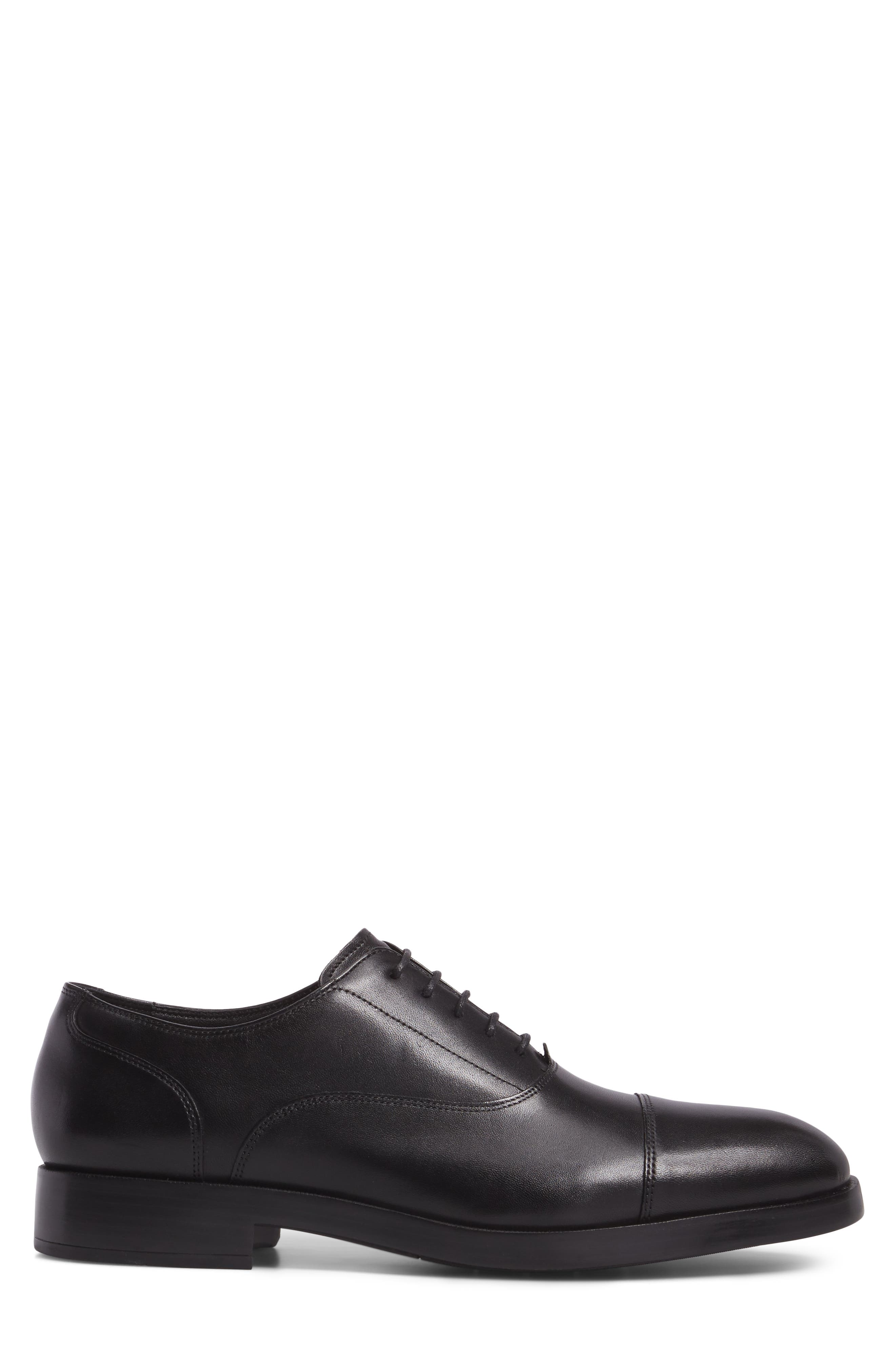 COLE HAAN, Harrison Grand Cap Toe Oxford, Alternate thumbnail 3, color, BLACK/ BLACK LEATHER