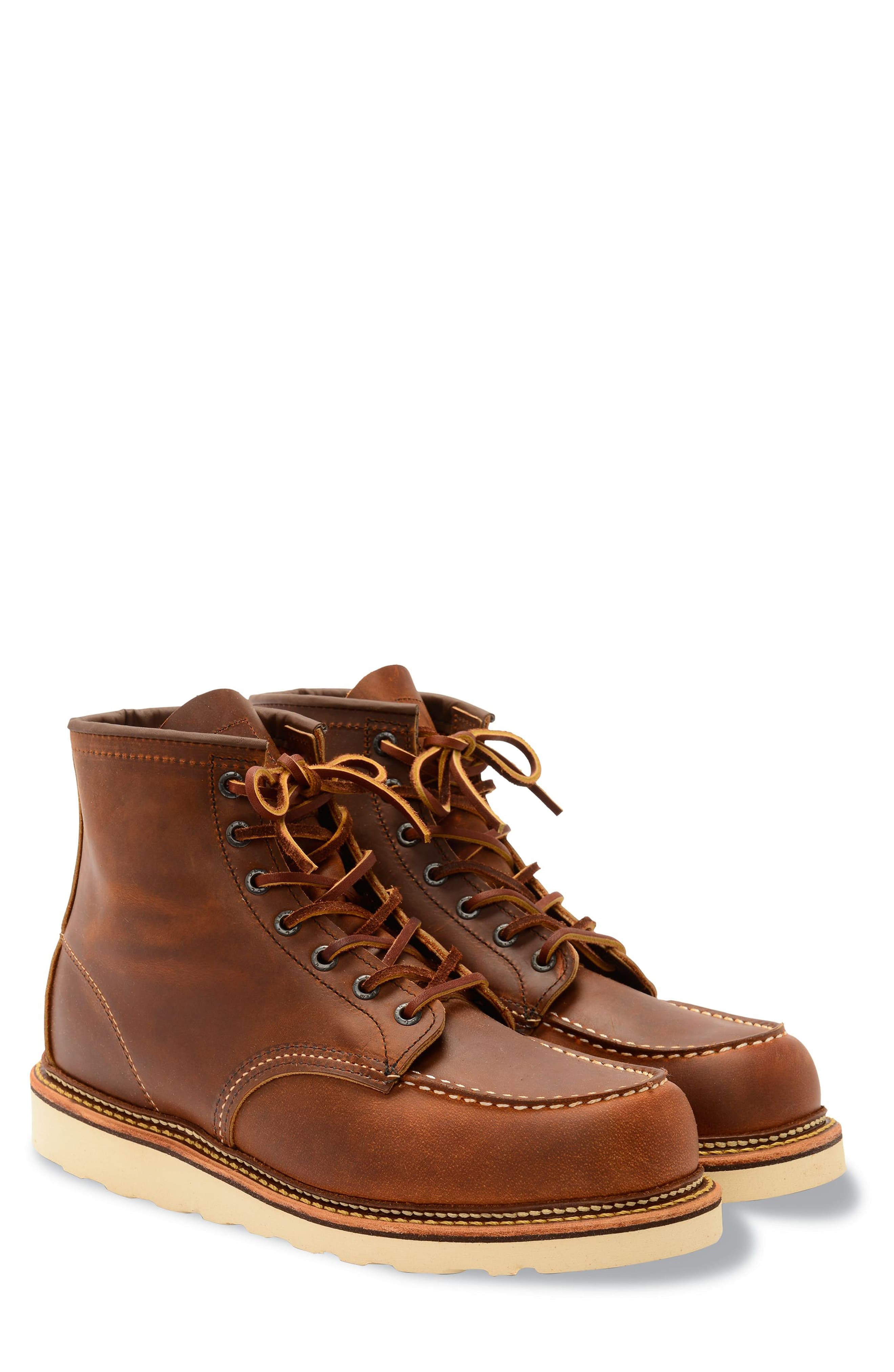 RED WING, Moc Toe Boot, Main thumbnail 1, color, COPPER BROWN- 1907