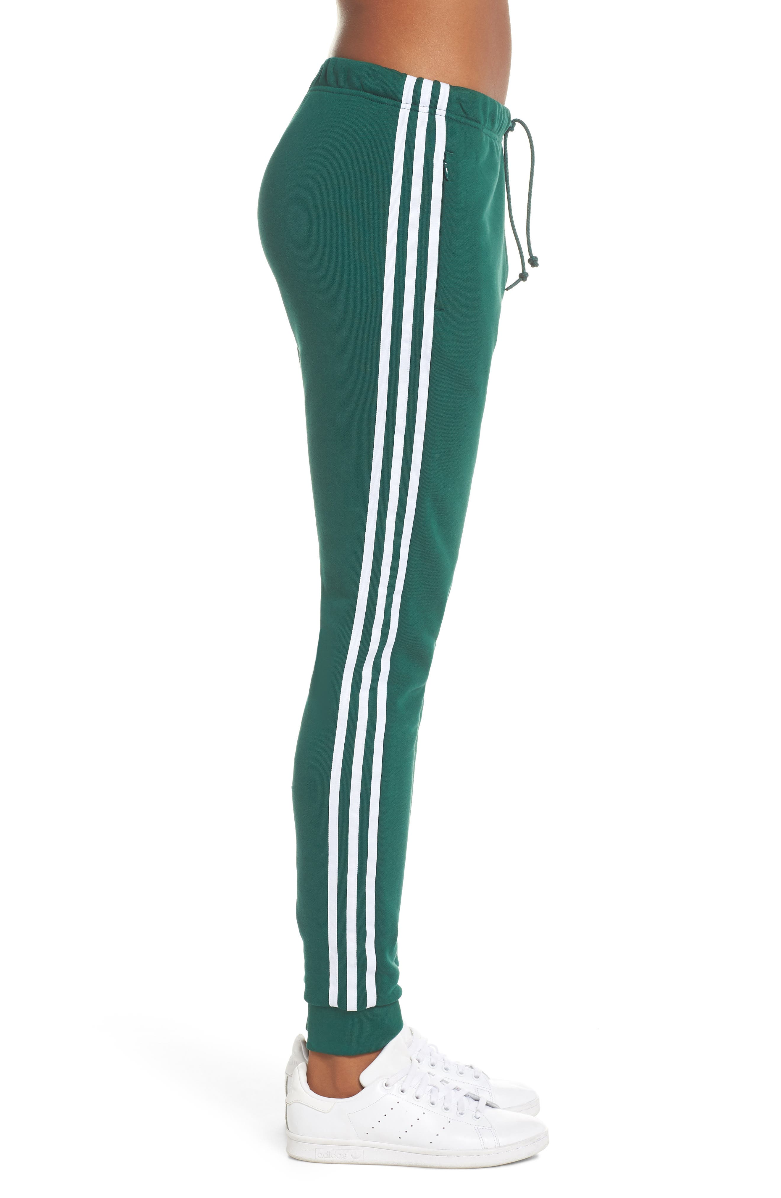 ADIDAS ORIGINALS, Cuffed Track Pants, Alternate thumbnail 4, color, 305