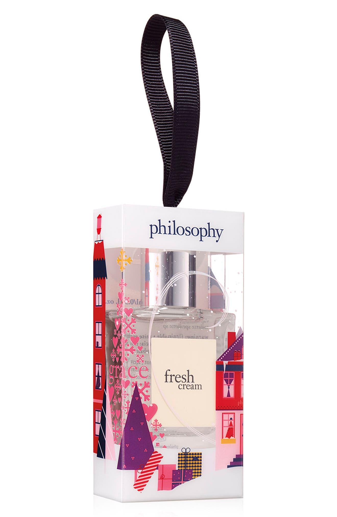PHILOSOPHY, fresh cream eau de toilette fragrance mini, Main thumbnail 1, color, 000