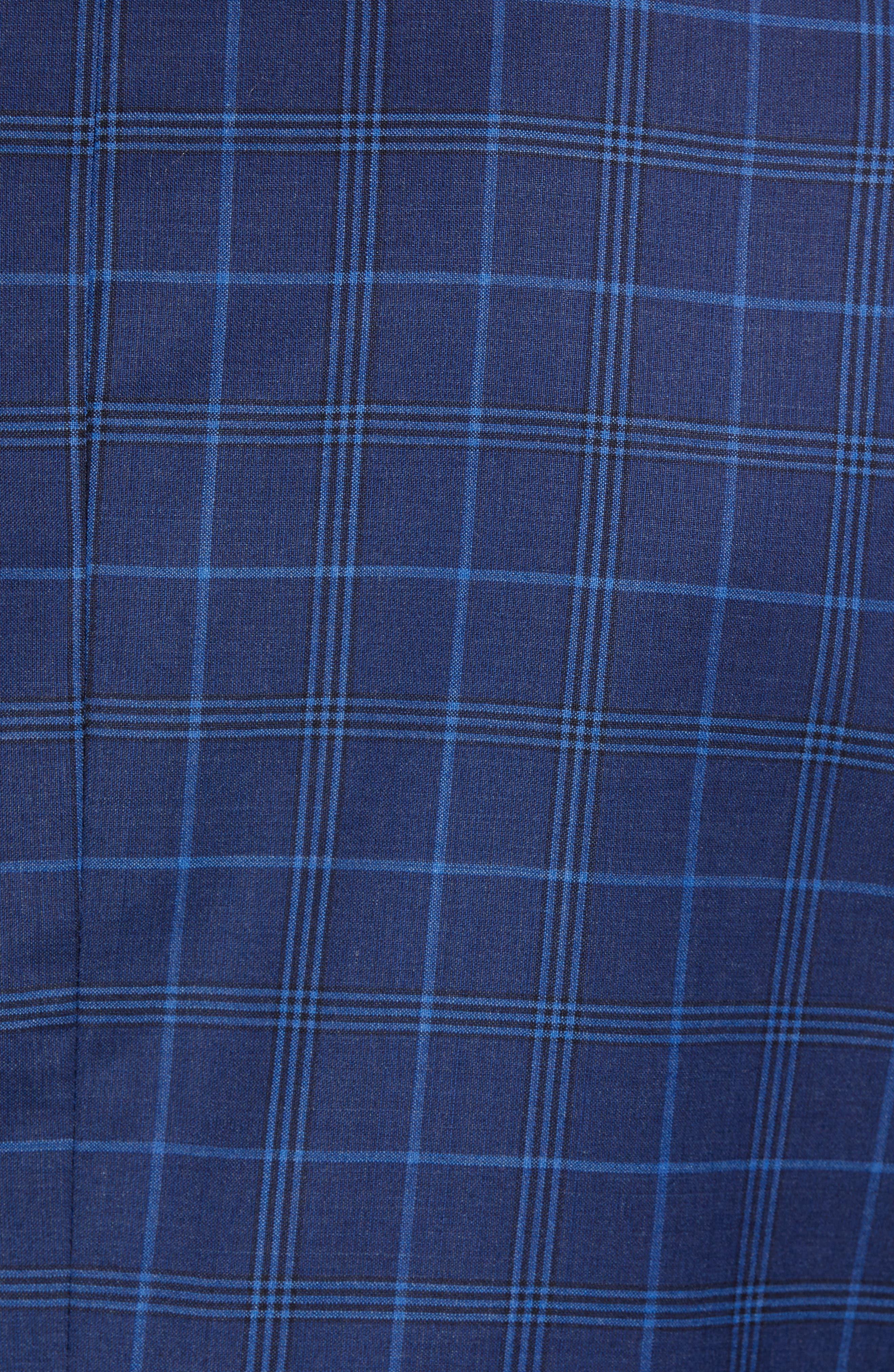 JOHN W. NORDSTROM<SUP>®</SUP>, Traditional Fit Plaid Wool Sport Coat, Alternate thumbnail 6, color, NAVY IRIS BLUE WINDOWPANE